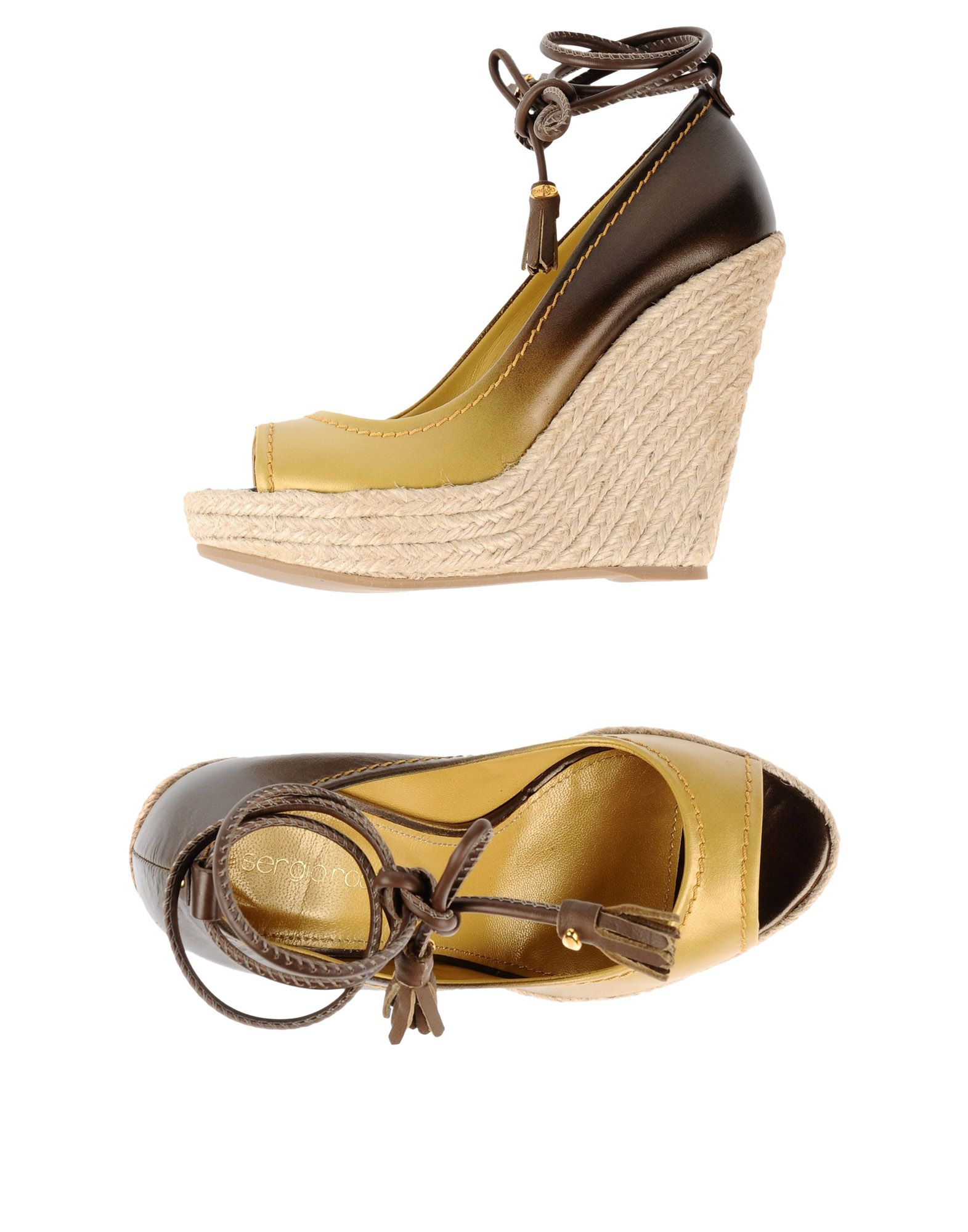 sergio rossi espadrilles in yellow lyst. Black Bedroom Furniture Sets. Home Design Ideas