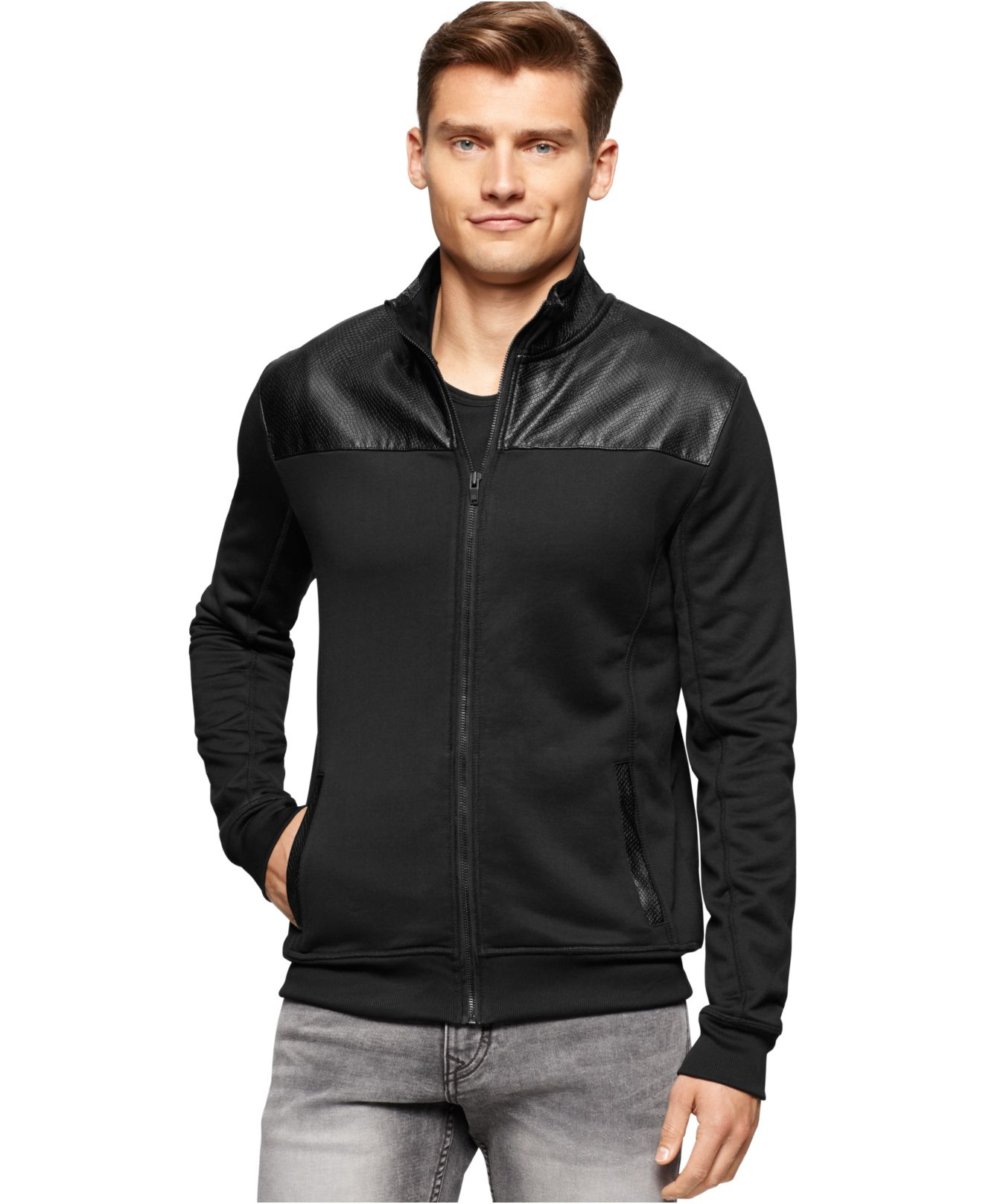 Shopping Online Free Shipping zipped neck sweatshirt - Black Calvin Klein Jeans Outlet Cheap Prices Get Authentic Online Online Sale 4qdrFqE
