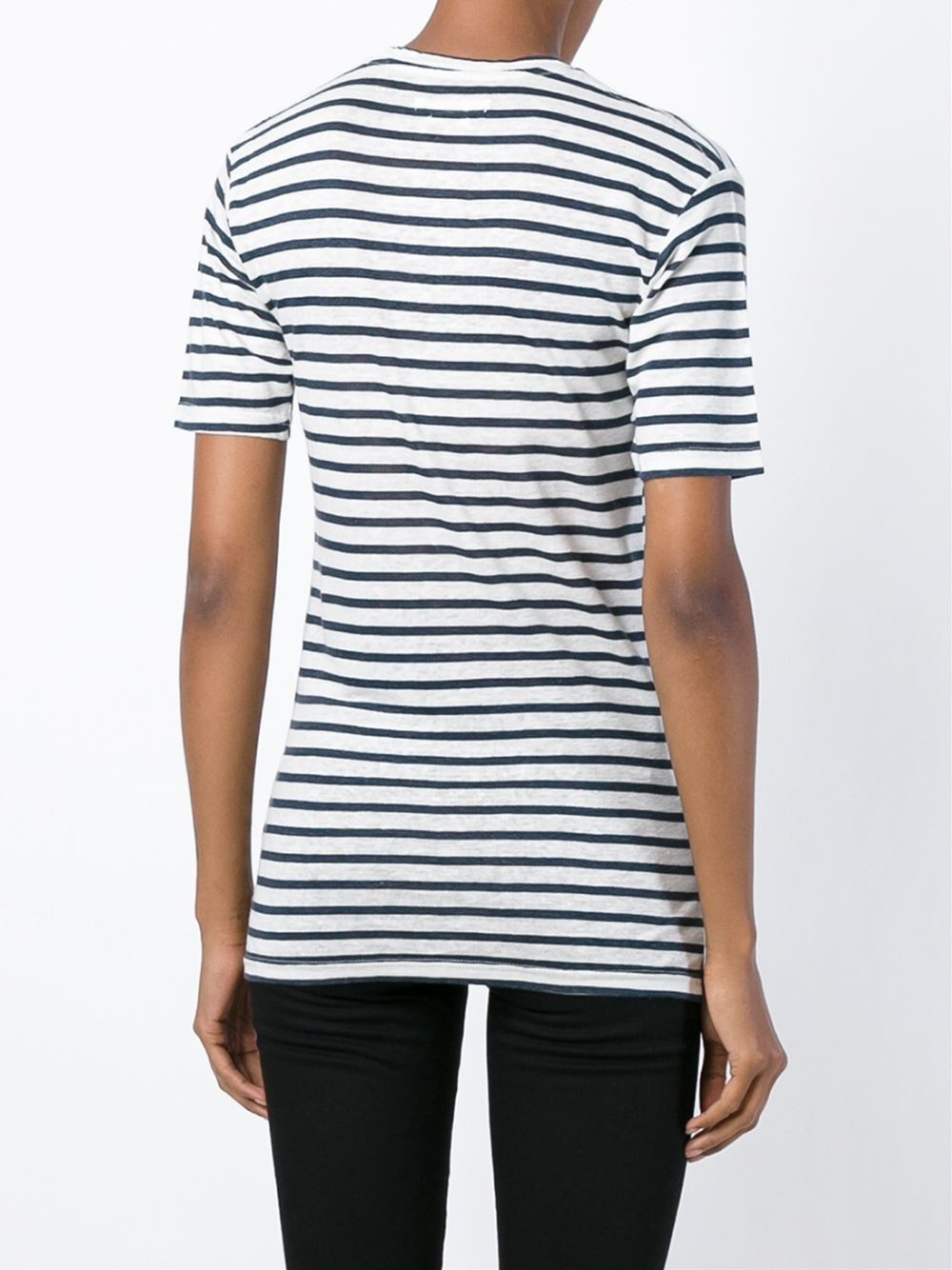 Toile isabel marant 39 ken 39 t shirt in blue lyst for Isabel marant t shirt sale