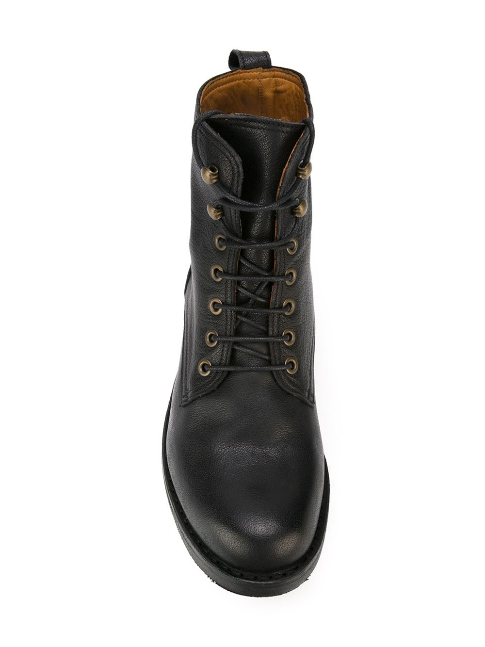 fiorentini baker lace up boots in black for lyst