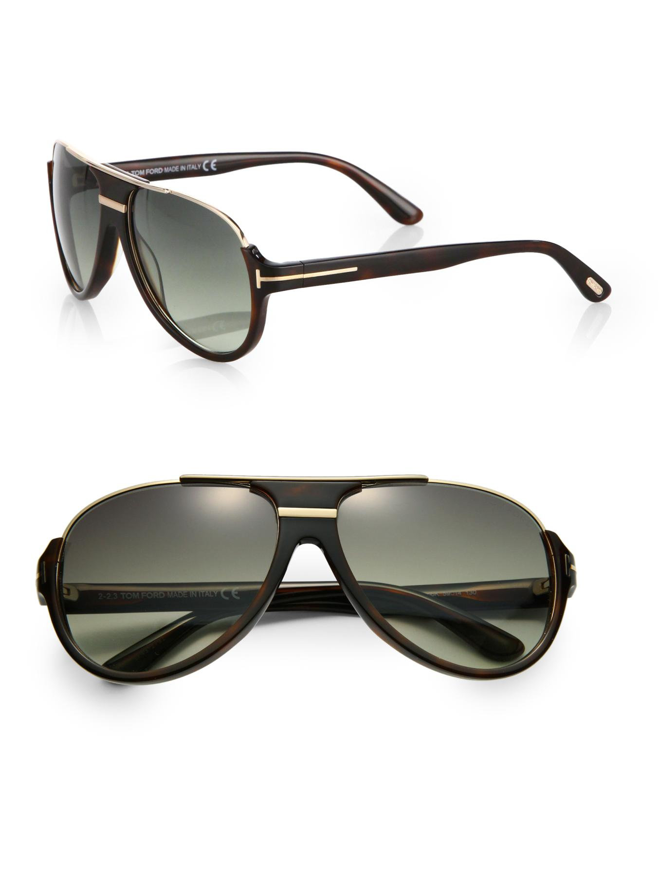 tom ford dimitry acetate retro sunglasses in brown for men. Black Bedroom Furniture Sets. Home Design Ideas