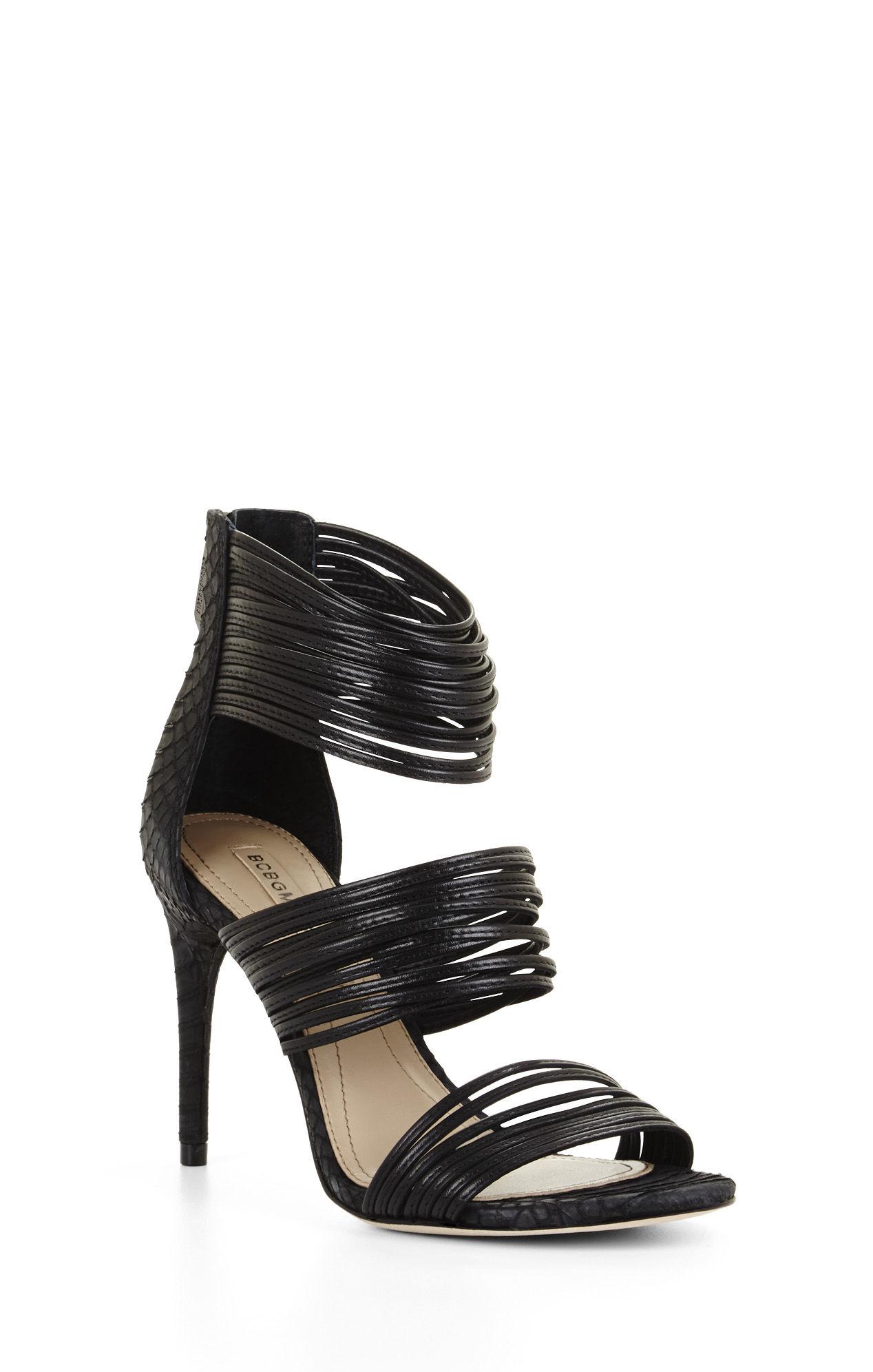 Black High Heel Strappy Sandals