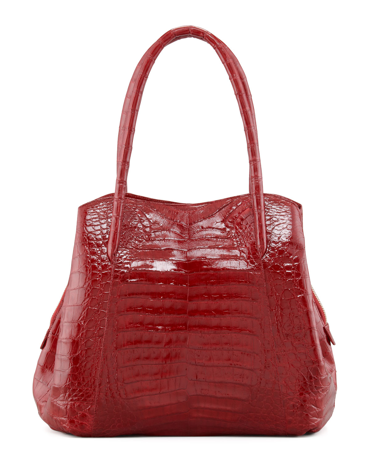 Nancy gonzalez shiny crocodile compartmentalized tote bag for Nancy gonzalez crocodile tote