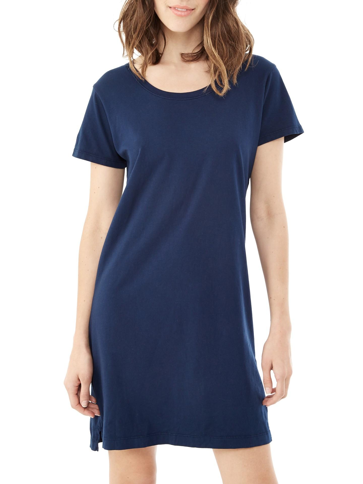 Alternative Apparel Legacy Garment Dyed T Shirt Dress In