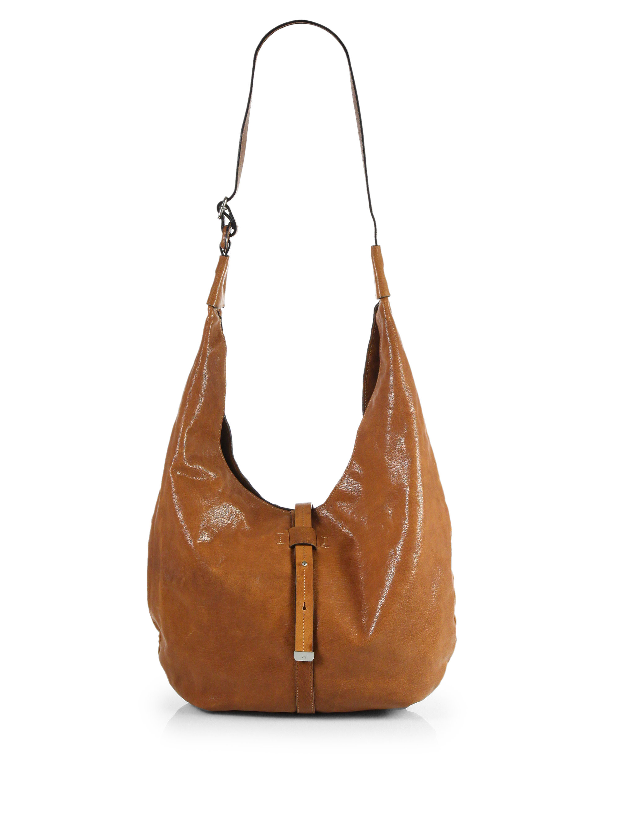 Halston New Leather Hobo Bag in Brown | Lyst