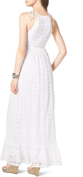 Beautiful Burberry Brit Cotton Eyelet Dress In White  Lyst