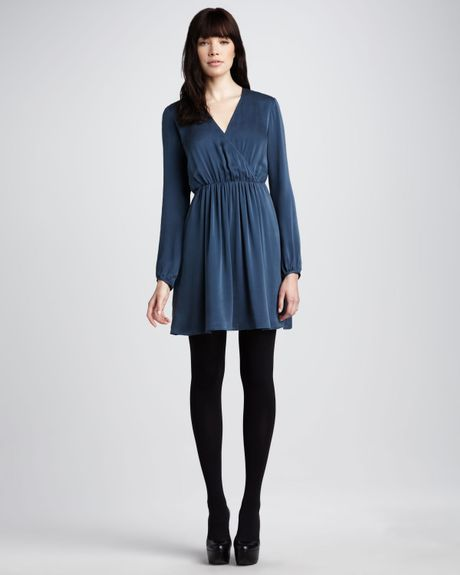 Theory Silk Dress in Blue (deep prussian)