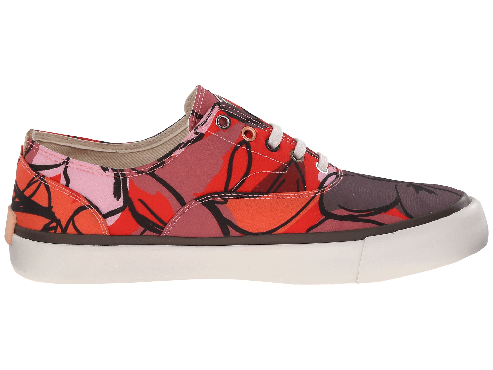 paul smith balfour floral canvas sneaker in brown lyst