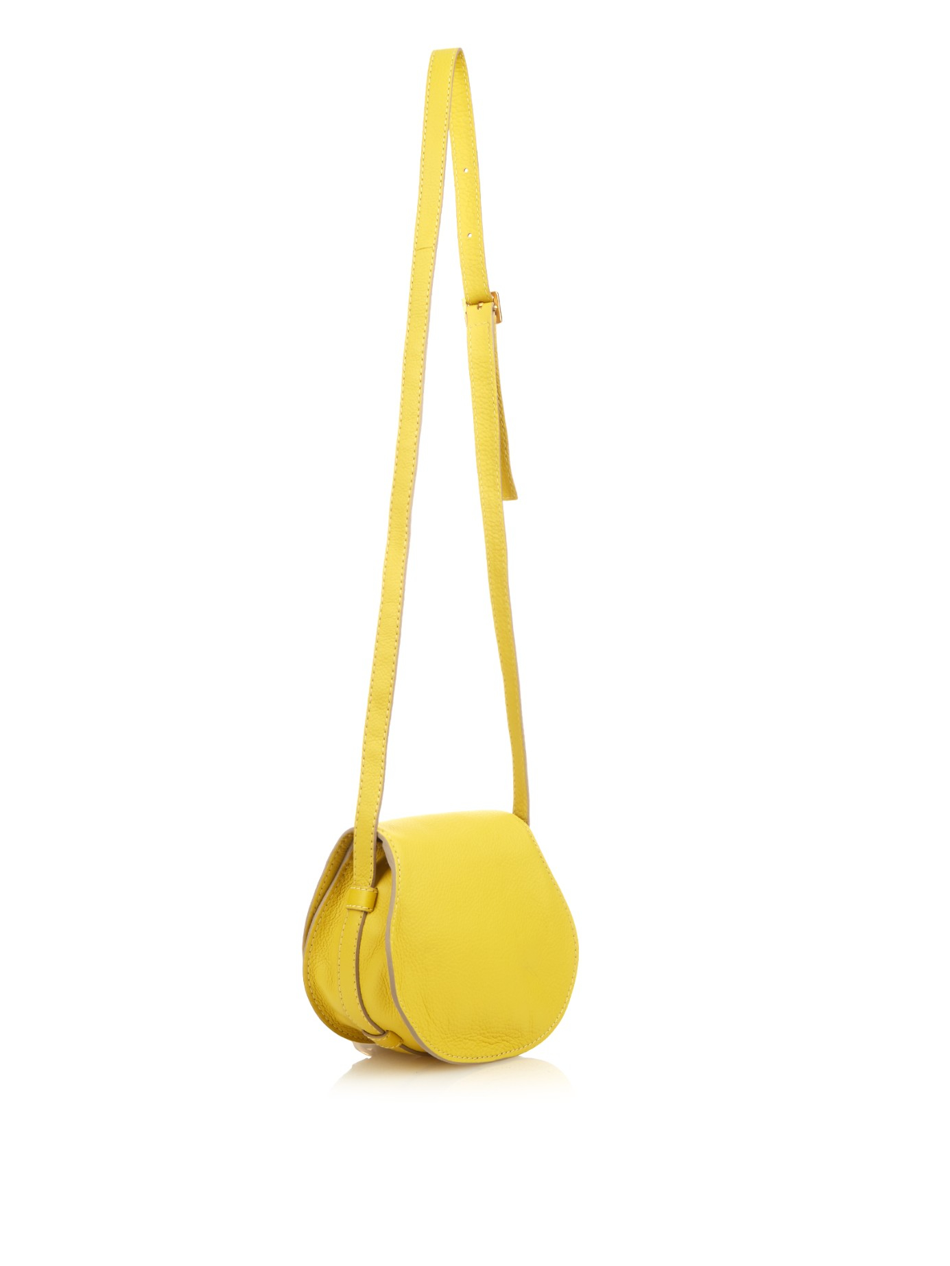 Chlo¨¦ Marcie Mini Leather Cross-body Bag in Yellow | Lyst
