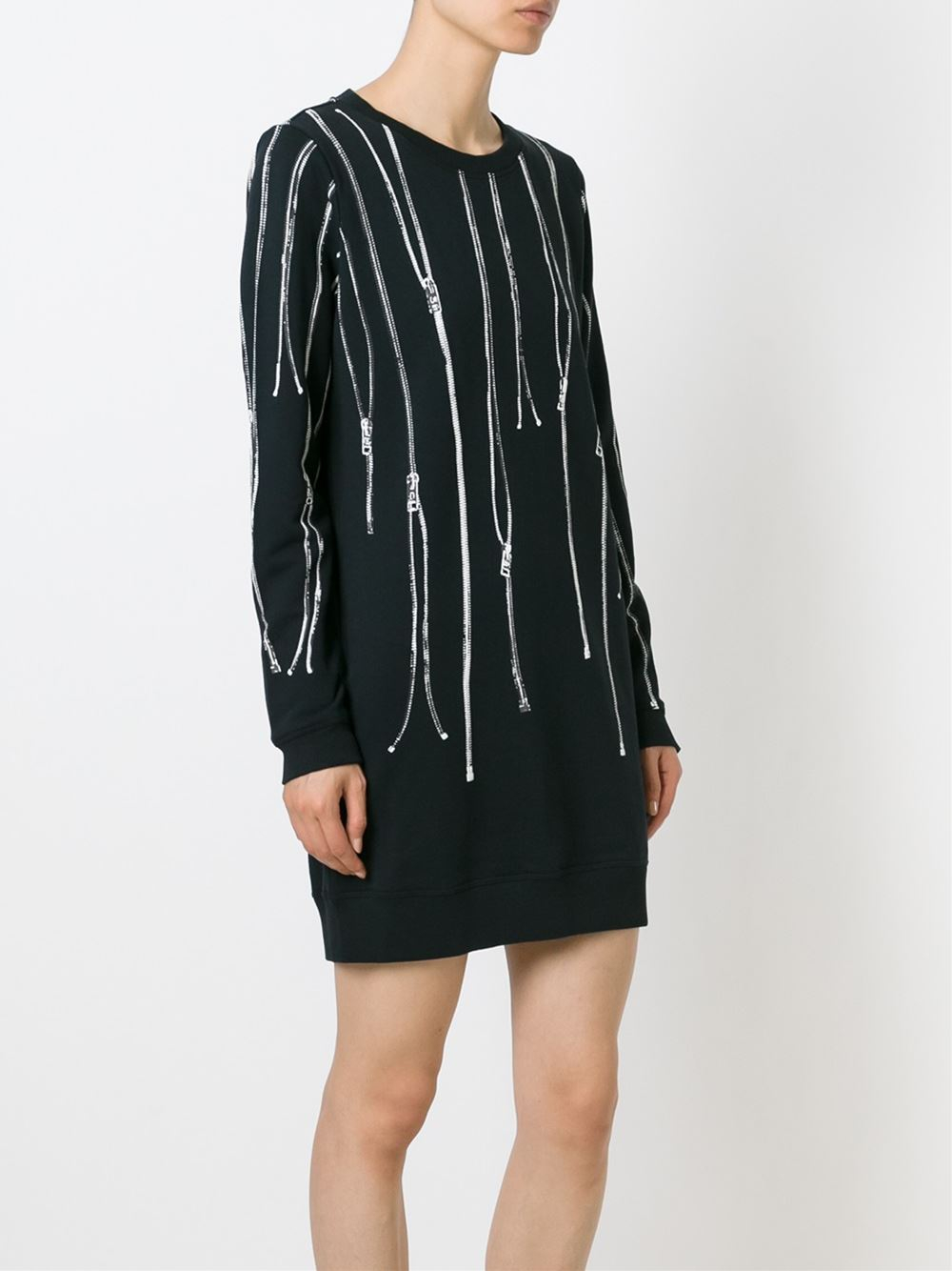 Diesel D Dial H Sweatshirt Dress In Black Lyst