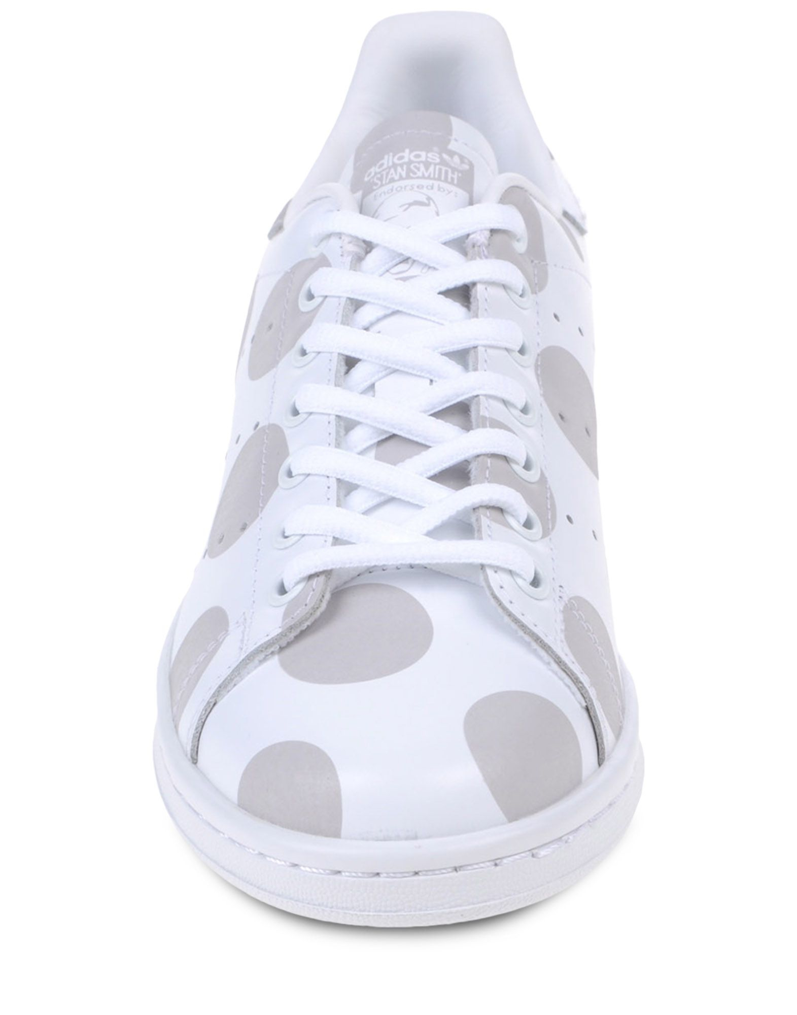 adidas originals dot print leather low top sneakers in