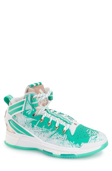faf974bb6092 Lyst - adidas Originals  d Rose 6 - Boost  Basketball Shoe in Green ...