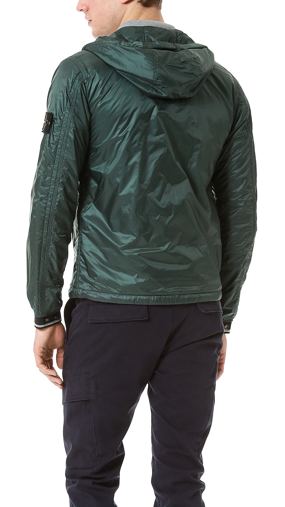 Lyst Stone Island Micro Rip Stop Jacket In Green For Men