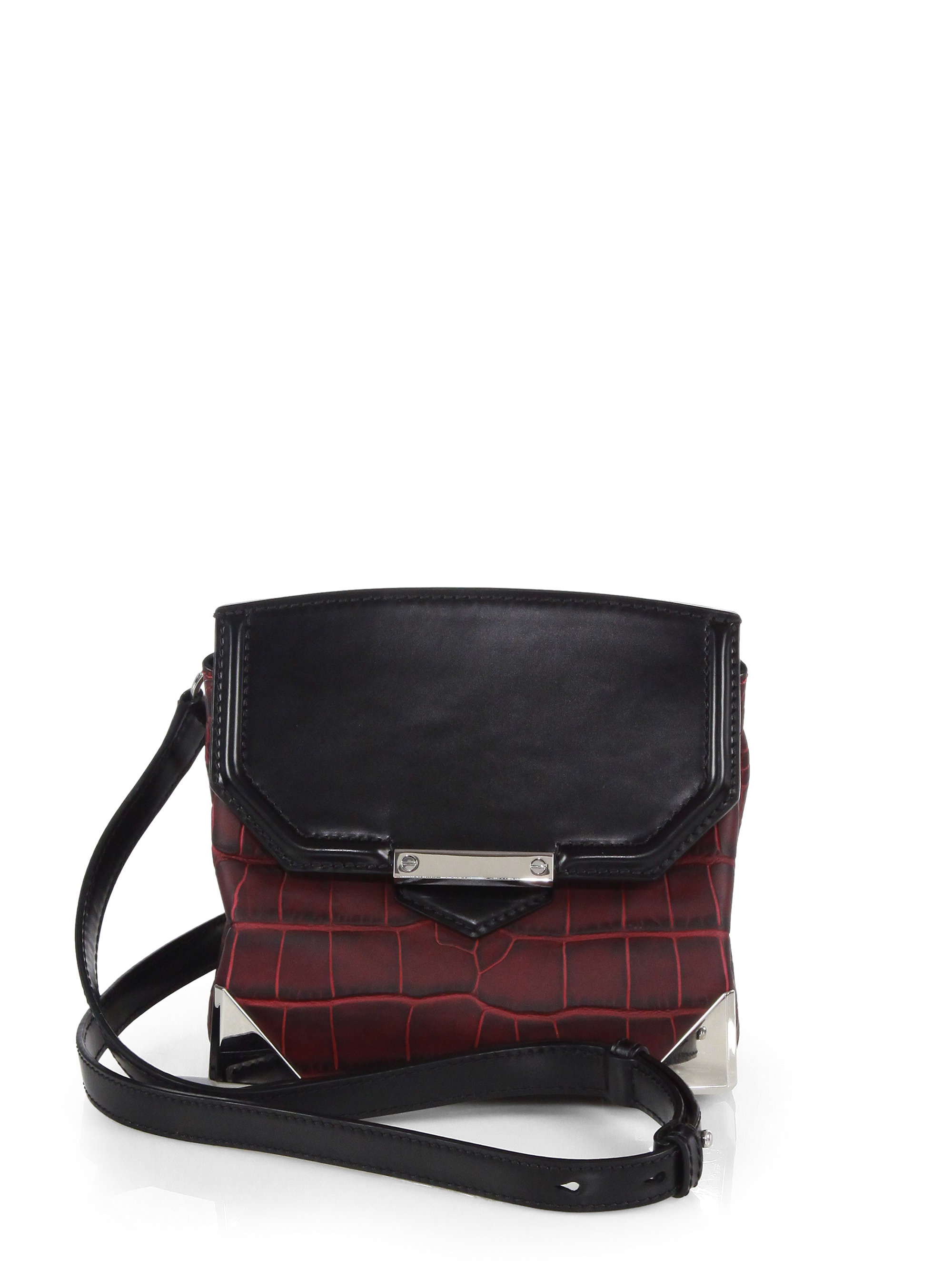 516cbed6d3d5 Lyst - Alexander Wang Marion Prisma Embossed Leather Crossbody Bag ...