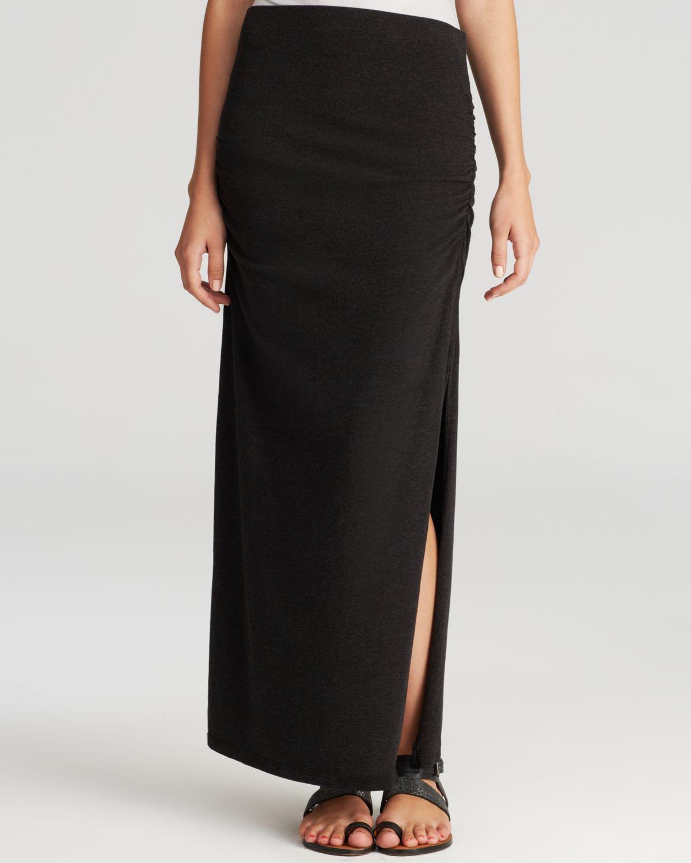 maxi skirt split in black lyst