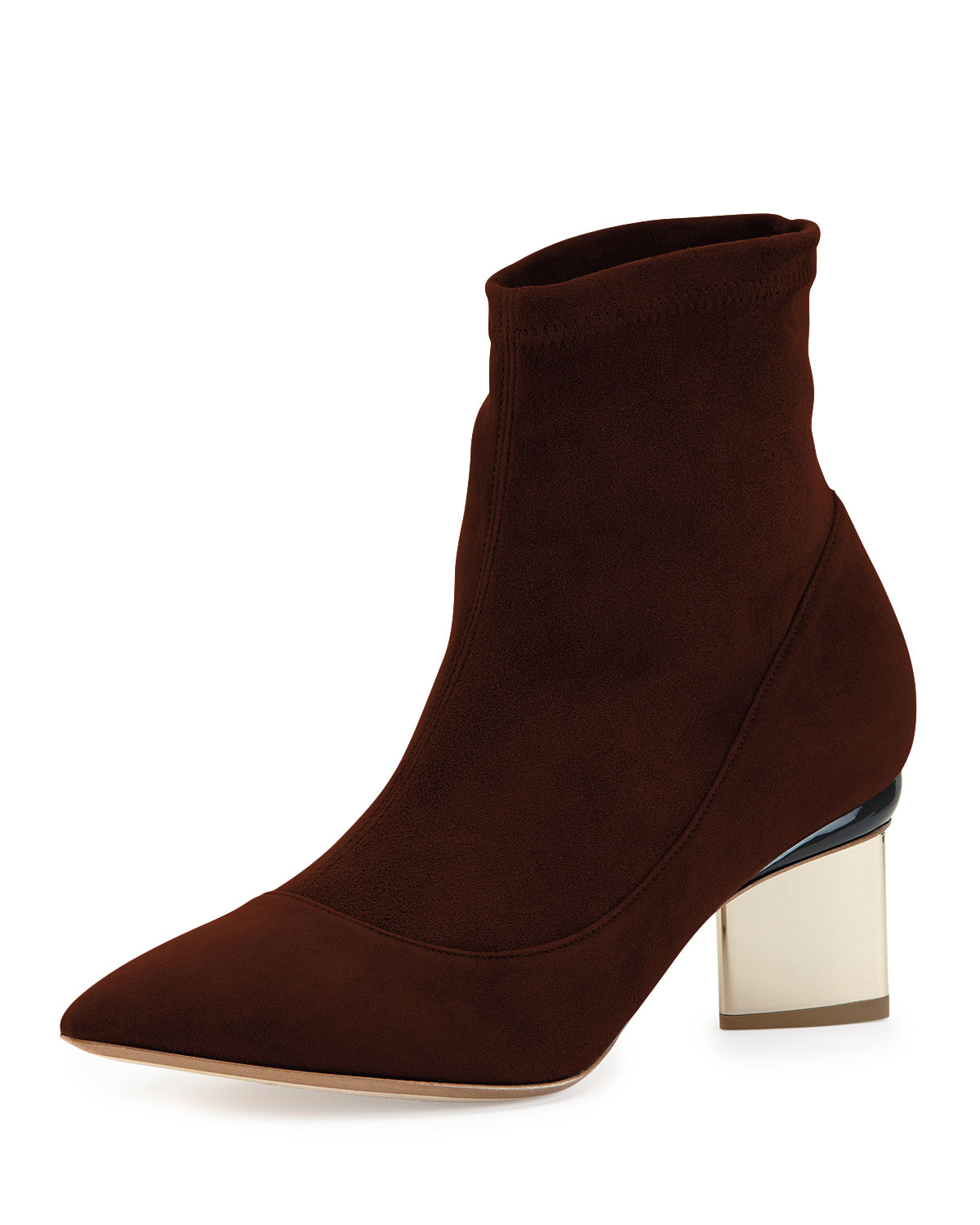 Nicholas kirkwood Suede Point-toe Ankle Boot in Brown | Lyst