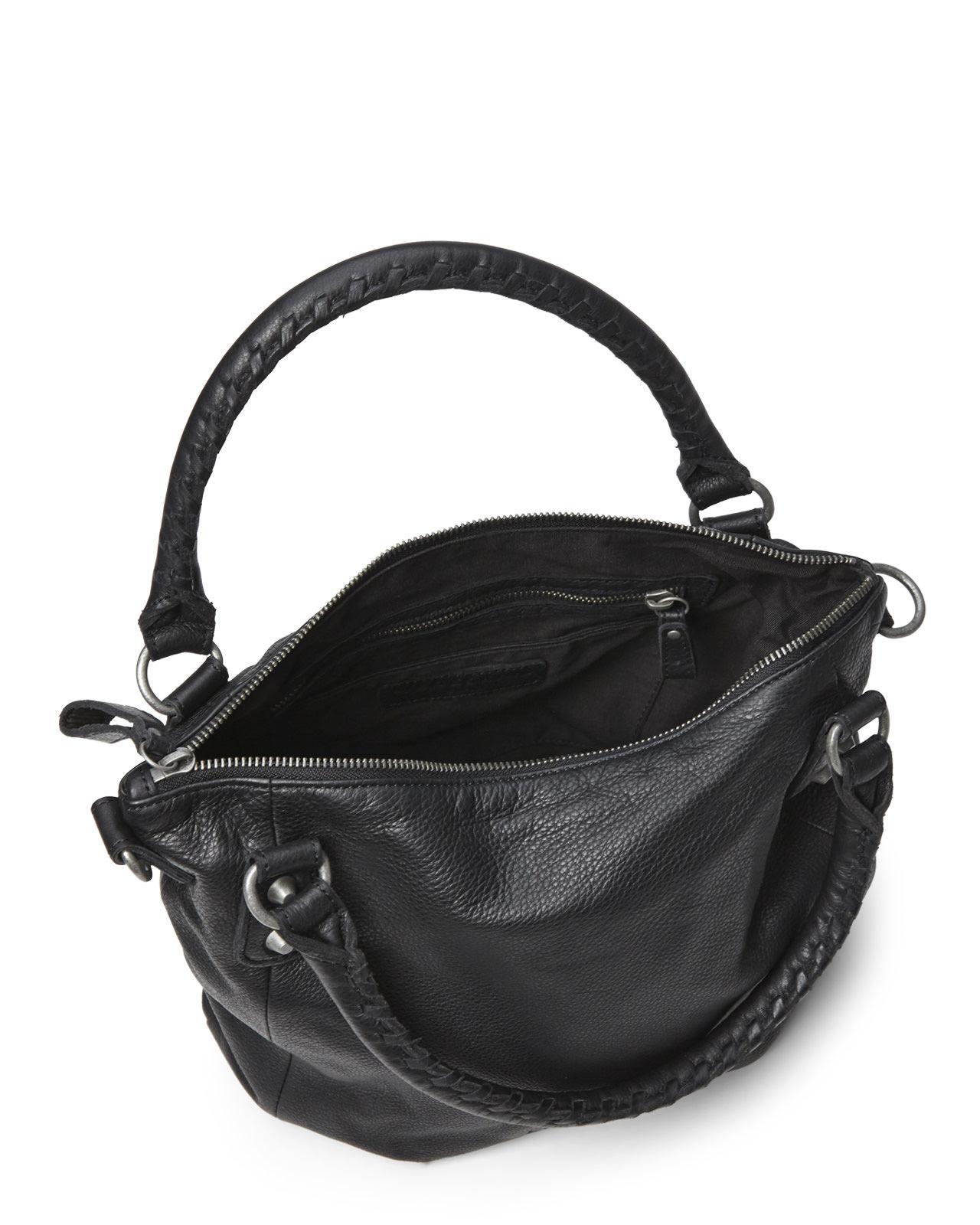 liebeskind black gina vintage satchel in black lyst. Black Bedroom Furniture Sets. Home Design Ideas