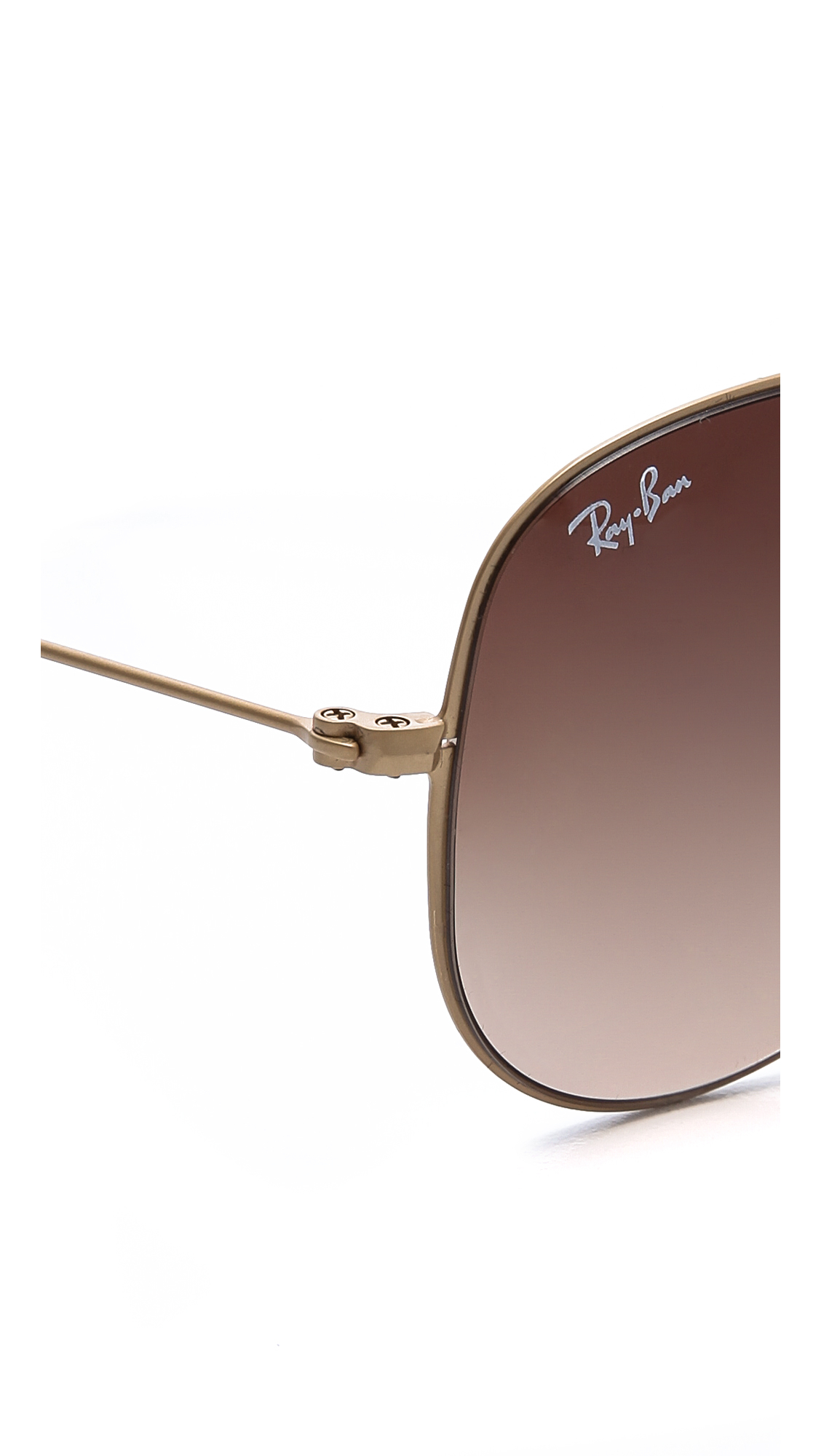 Lyst Ray Ban Highstreet Matte Aviator Sunglasses