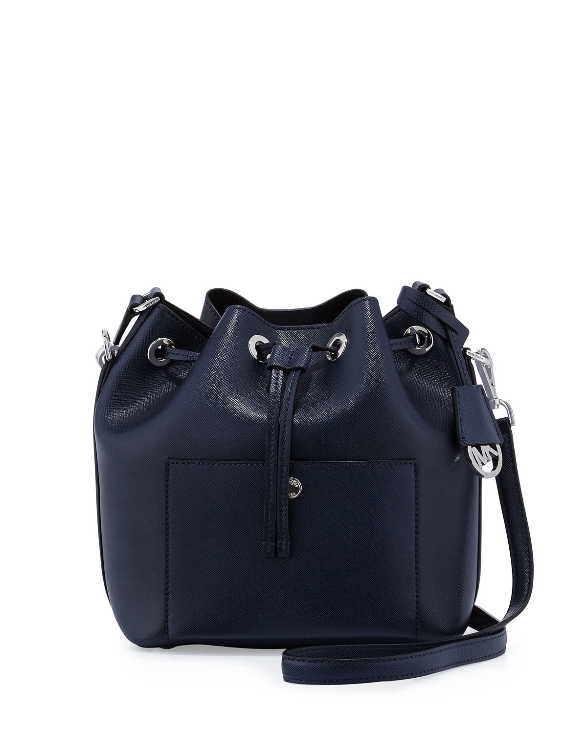 Lyst - MICHAEL Michael Kors Greenwich Medium Bucket Bag in Blue c5f435d7c8855