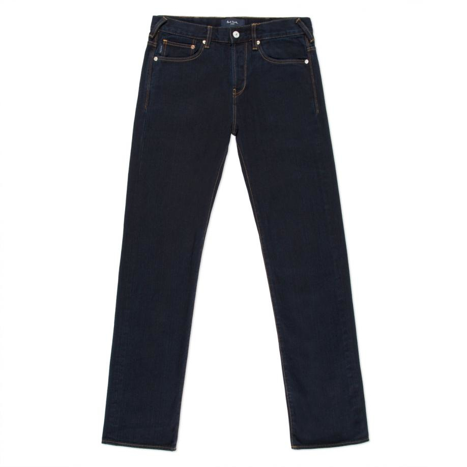 Paul smith Men's Standard-fit Over-dyed Dark Blue Jeans in Blue for Men | Lyst