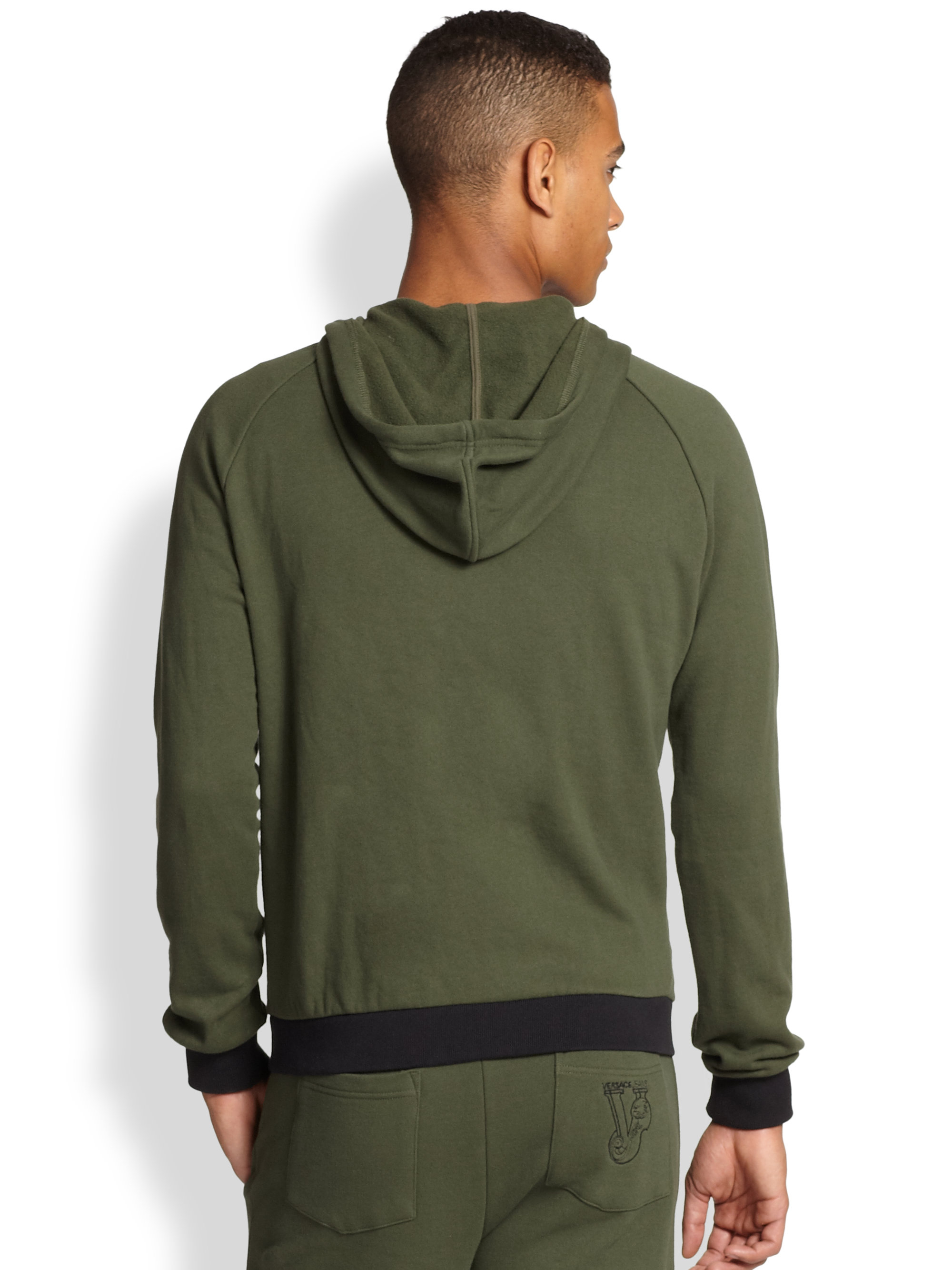 Olive Green Hoodie Mens | Fashion Ql
