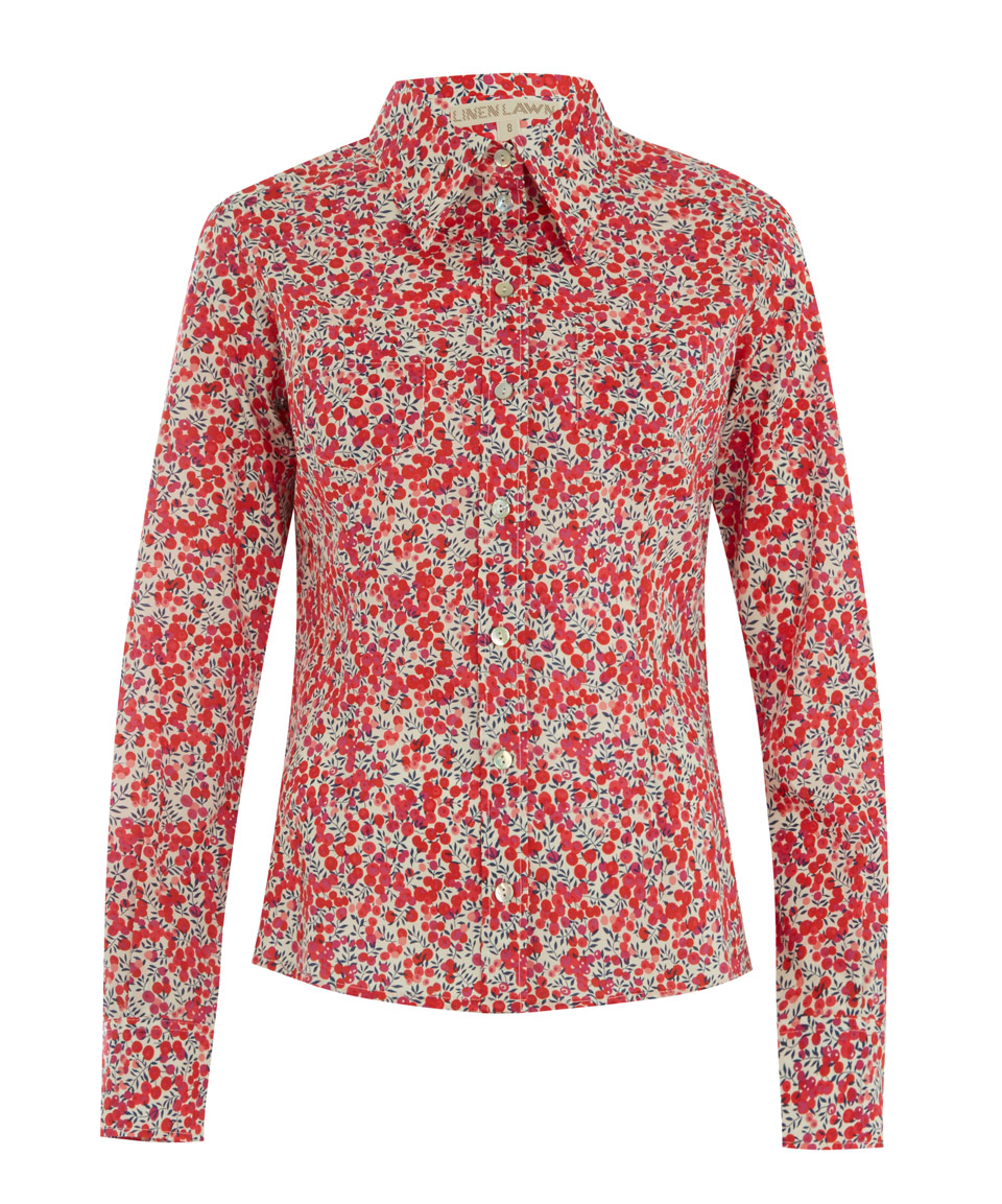 Liberty Wiltshire Long Sleeved Extra Fitted Camille Shirt ...
