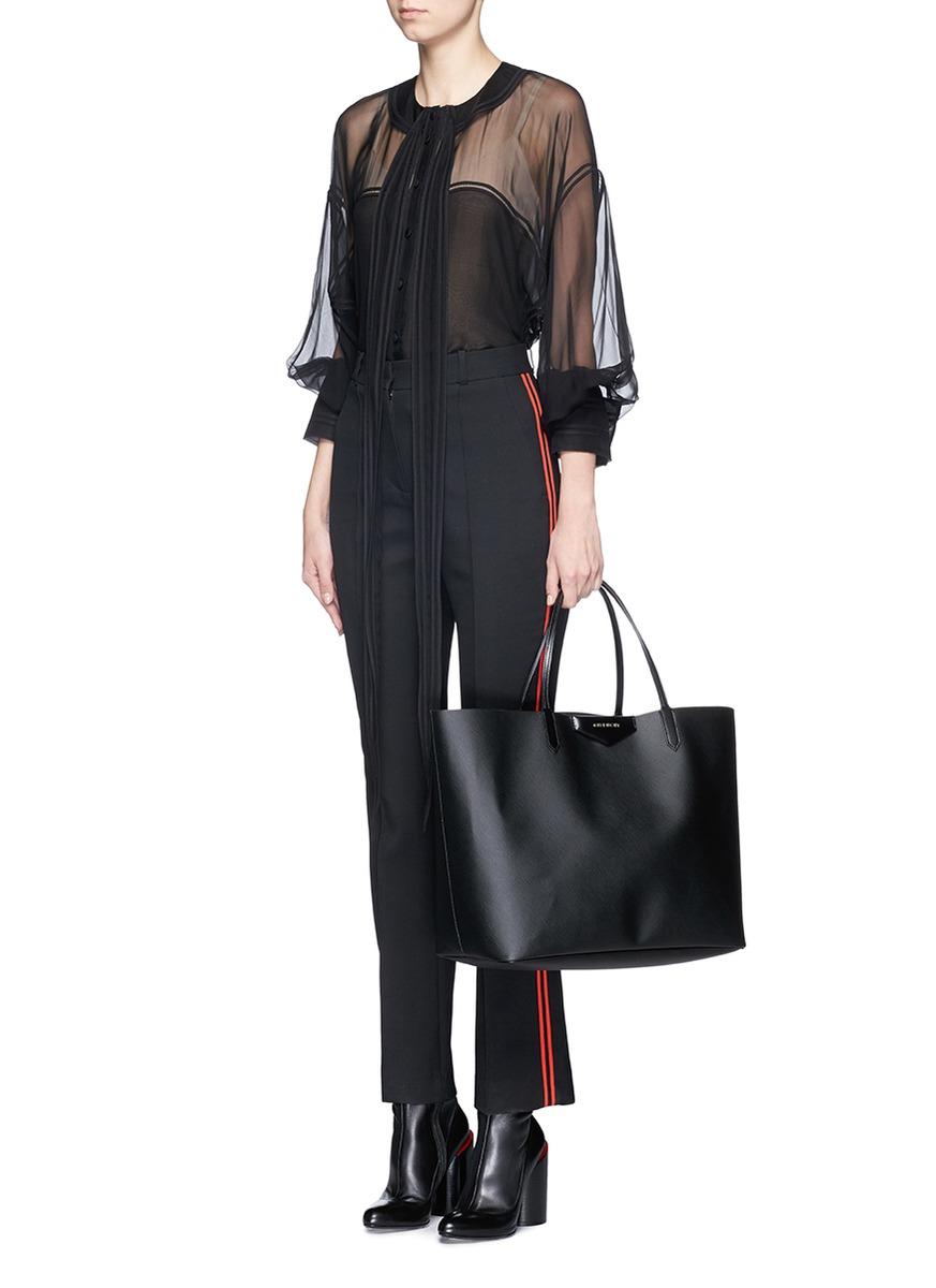 e62c2393df Lyst - Givenchy Antigona Coated-Twill Tote in Black