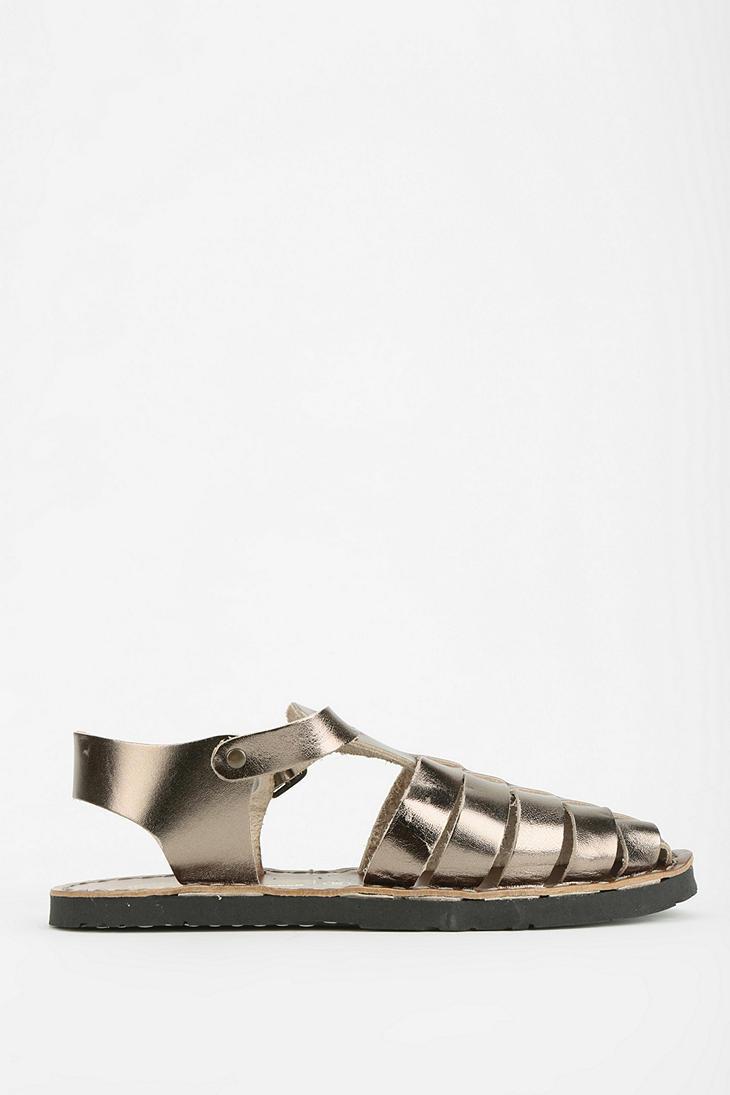 c8ed4b10317d Lyst - Jeffrey Campbell Egypt Fisherman Sandal in Metallic