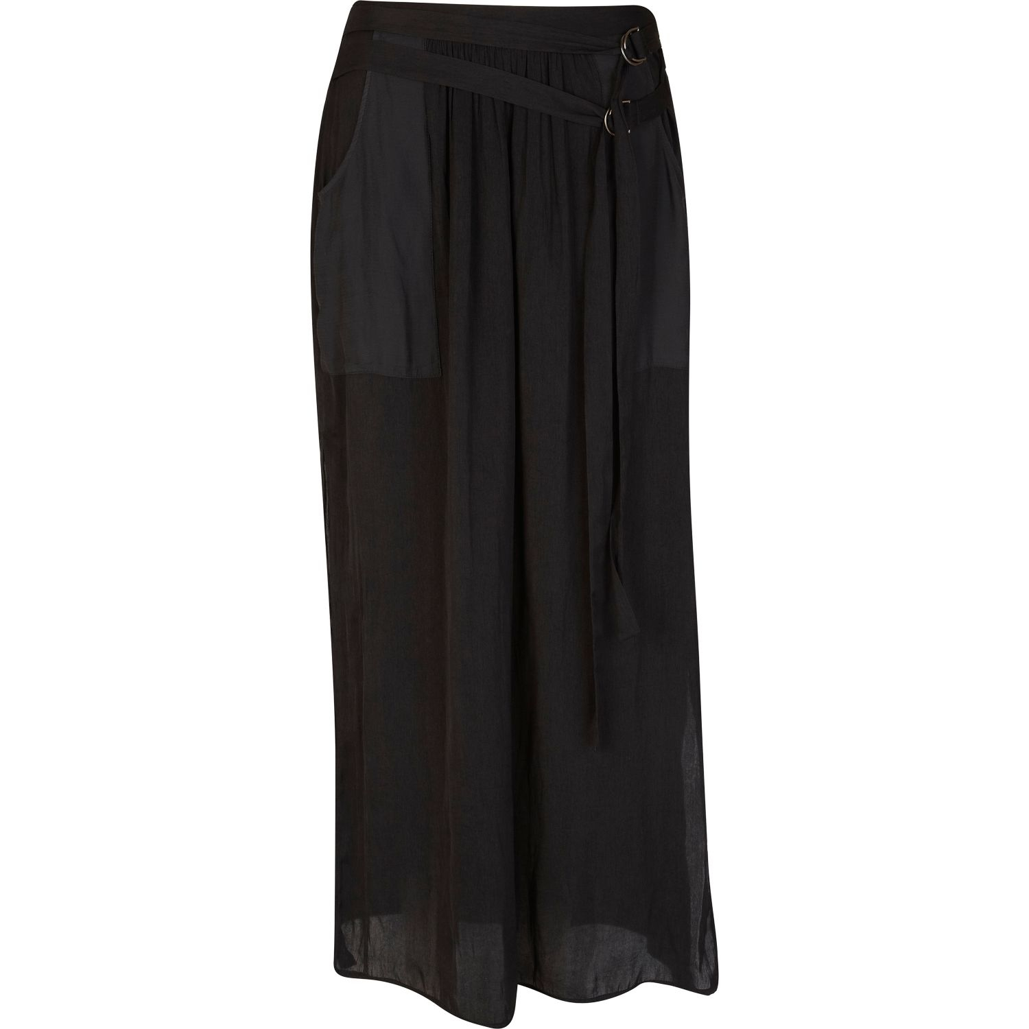 river island sheer utility maxi skirt in black lyst