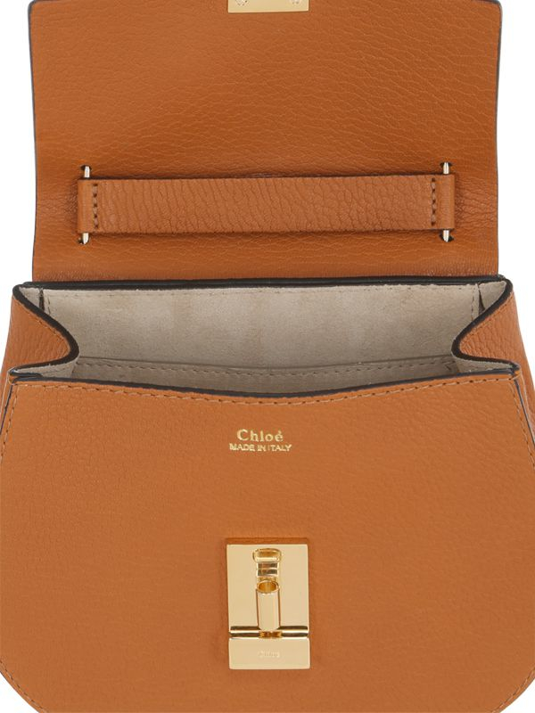 Chlo¨¦ Mini Drew Grained Nappa Leather Bag in Brown | Lyst