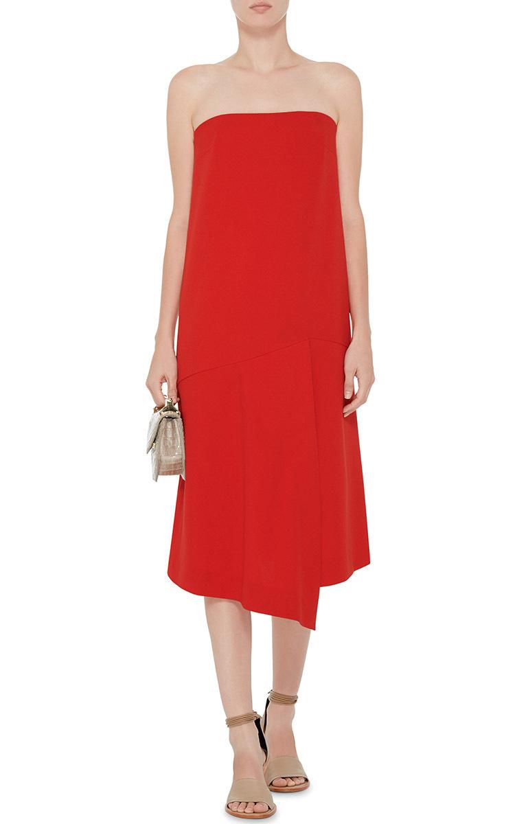 tibi red silk halter dress « Bella Forte Glass Studio
