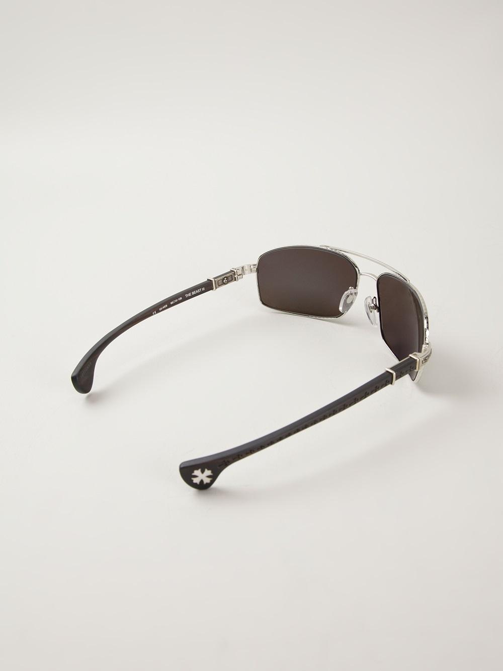9b32cf240ff Lyst - Chrome Hearts The Beast Sunglasses in Black for Men