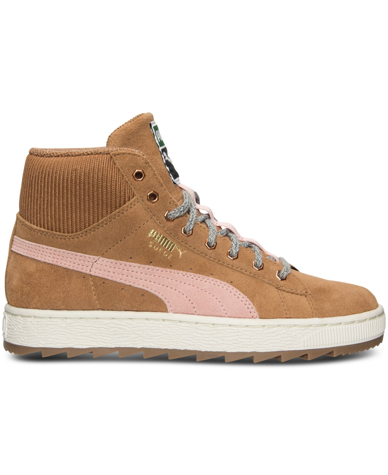 puma womens suede winterized rugged mid casual sneakers