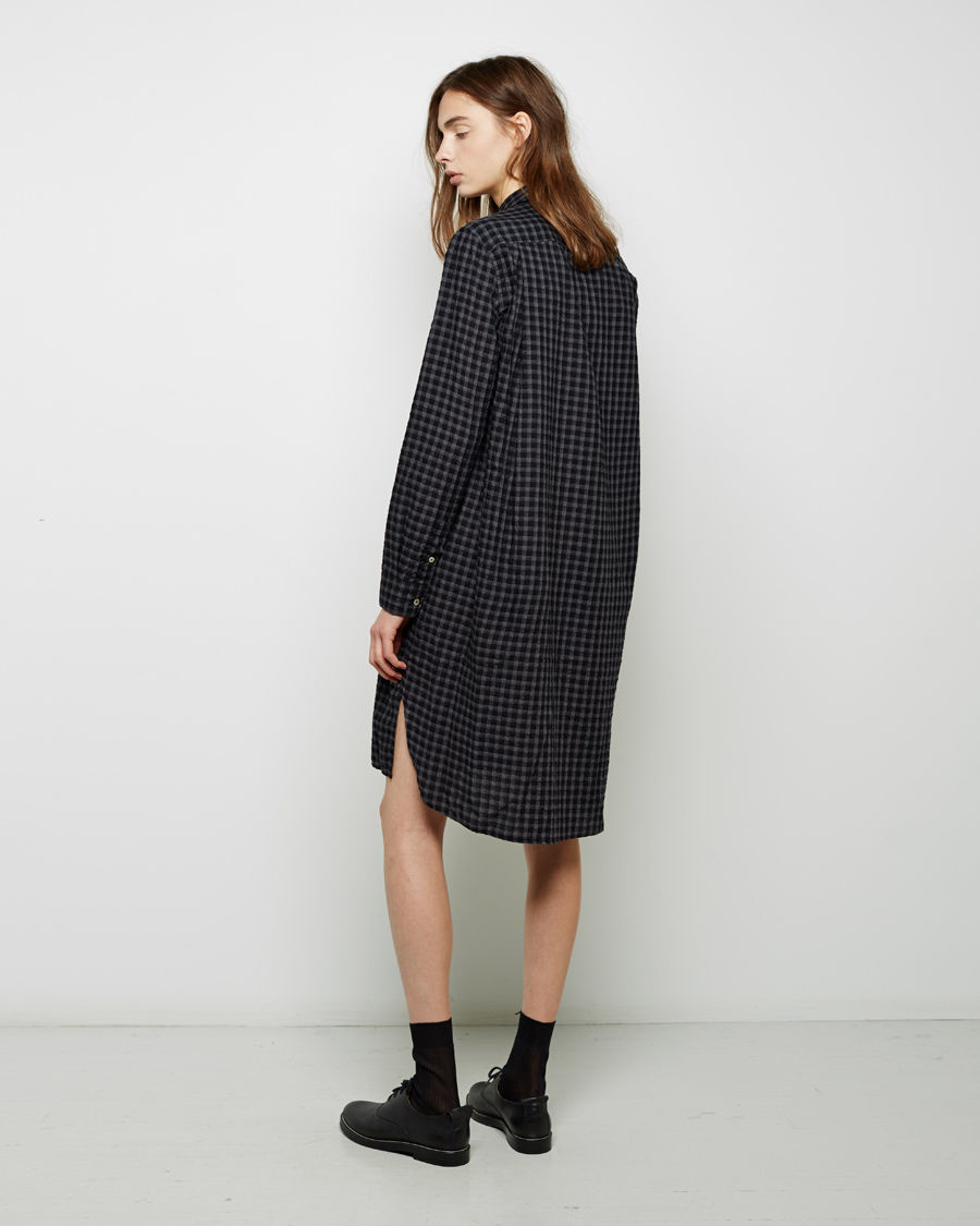 Lyst Toile Isabel Marant Gingham Crepe Shirt Dress In Gray
