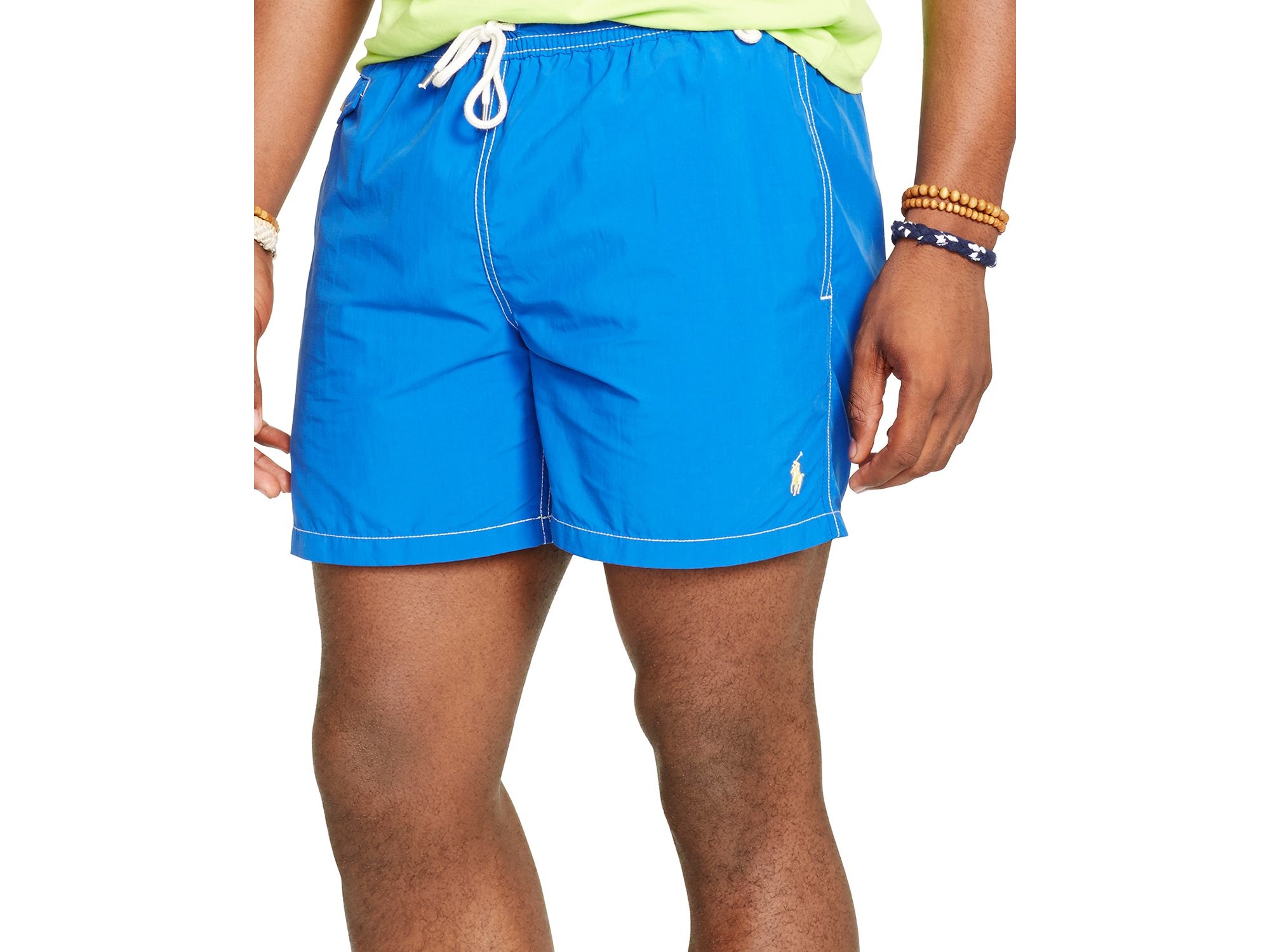 2ea216b929 ... authentic lyst ralph lauren polo traveler swim shorts in blue for men  d5fe3 f5f44