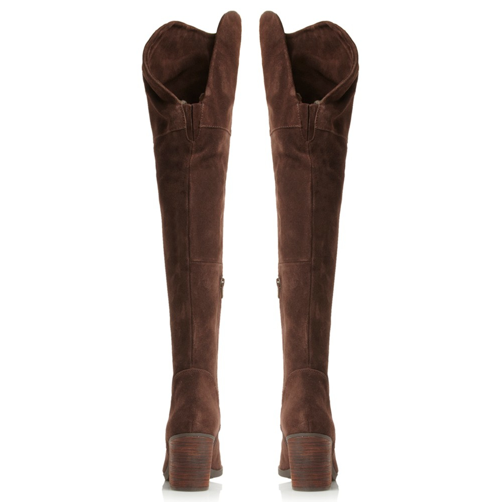 dde779efd2e Steve Madden Octagon Over The Knee Boots in Brown - Lyst