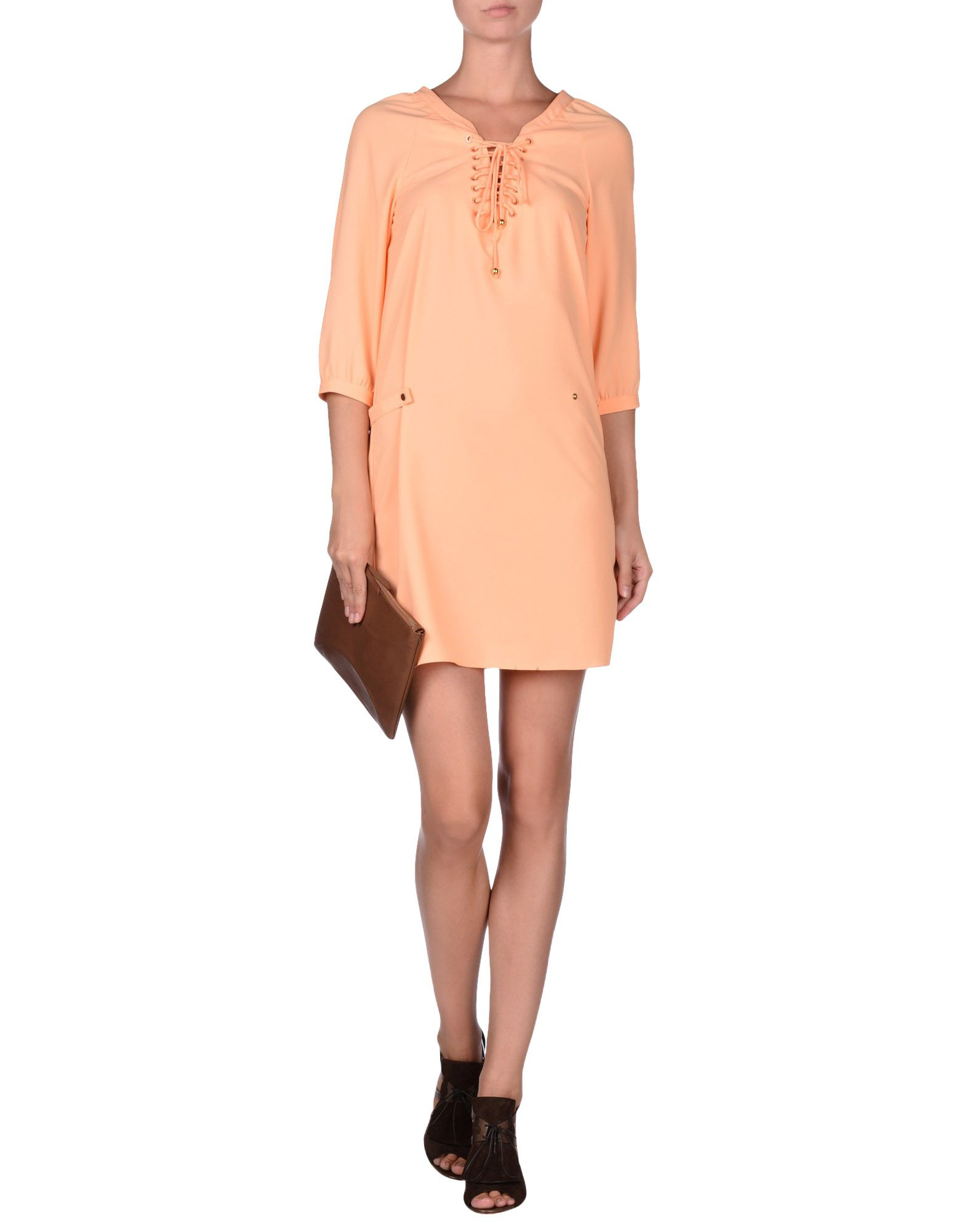 lyst hotel particulier short dress in orange. Black Bedroom Furniture Sets. Home Design Ideas