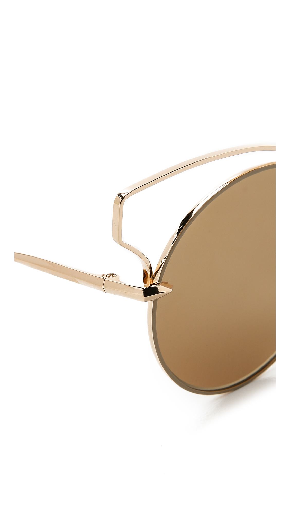 5eeefa2353f3 DITA Believer Sunglasses - Tan Gold/gold Flash in Brown - Lyst