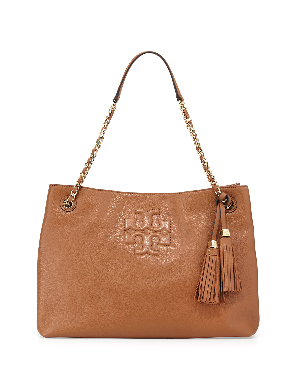 50c675e2a5fa7 Lyst - Tory Burch Thea Large Chain Tote Bag in Brown