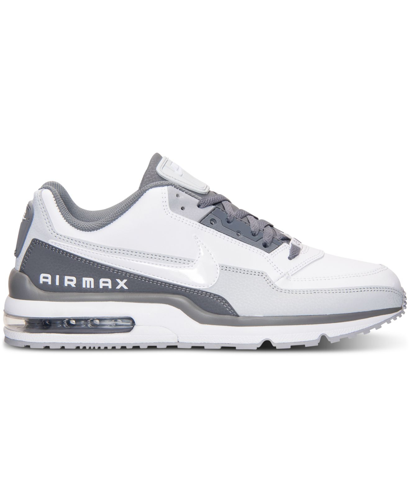san francisco b745f 51aef Nike Men s Air Max Ltd 3 Running Sneakers From Finish Line in White ...