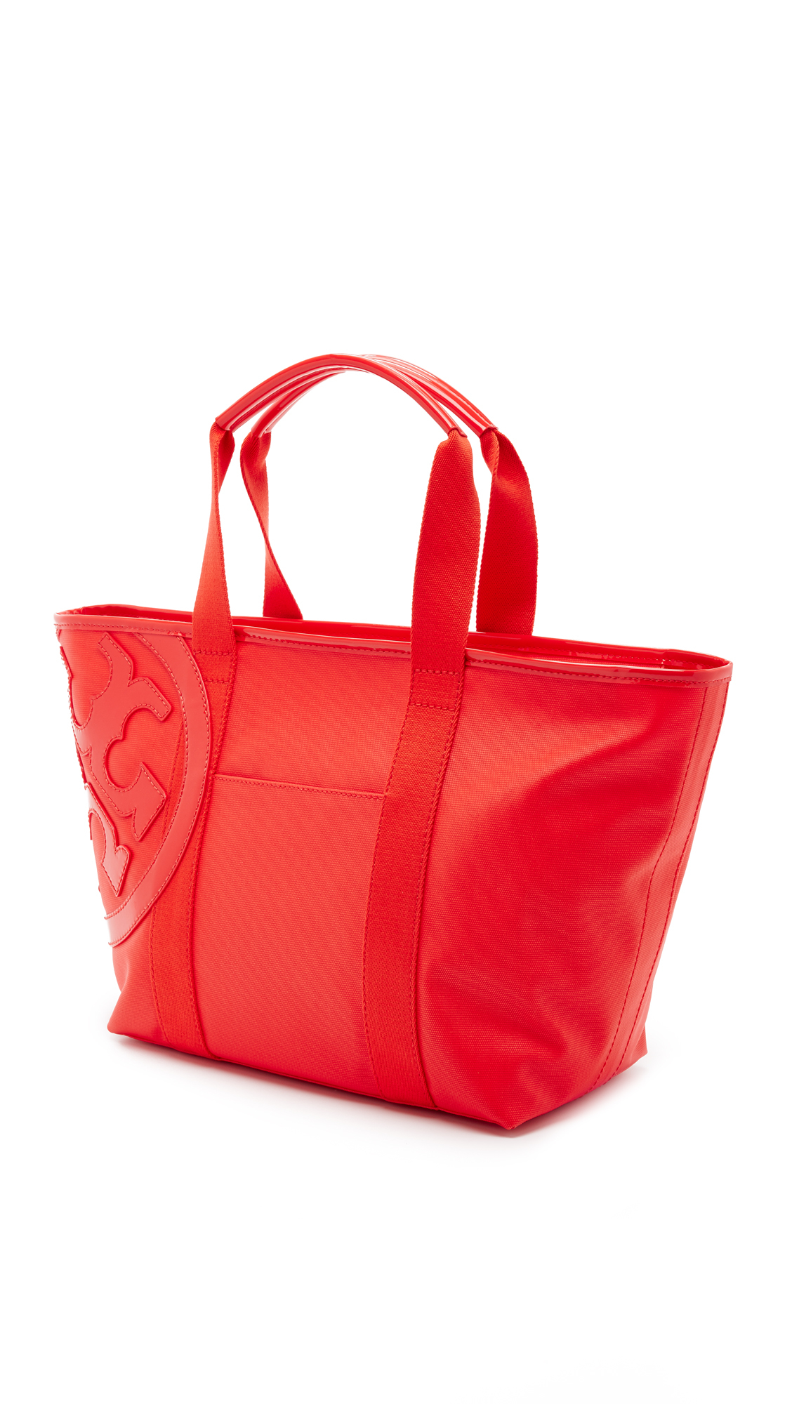 Tory burch Beach Canvas Tote in Red | Lyst