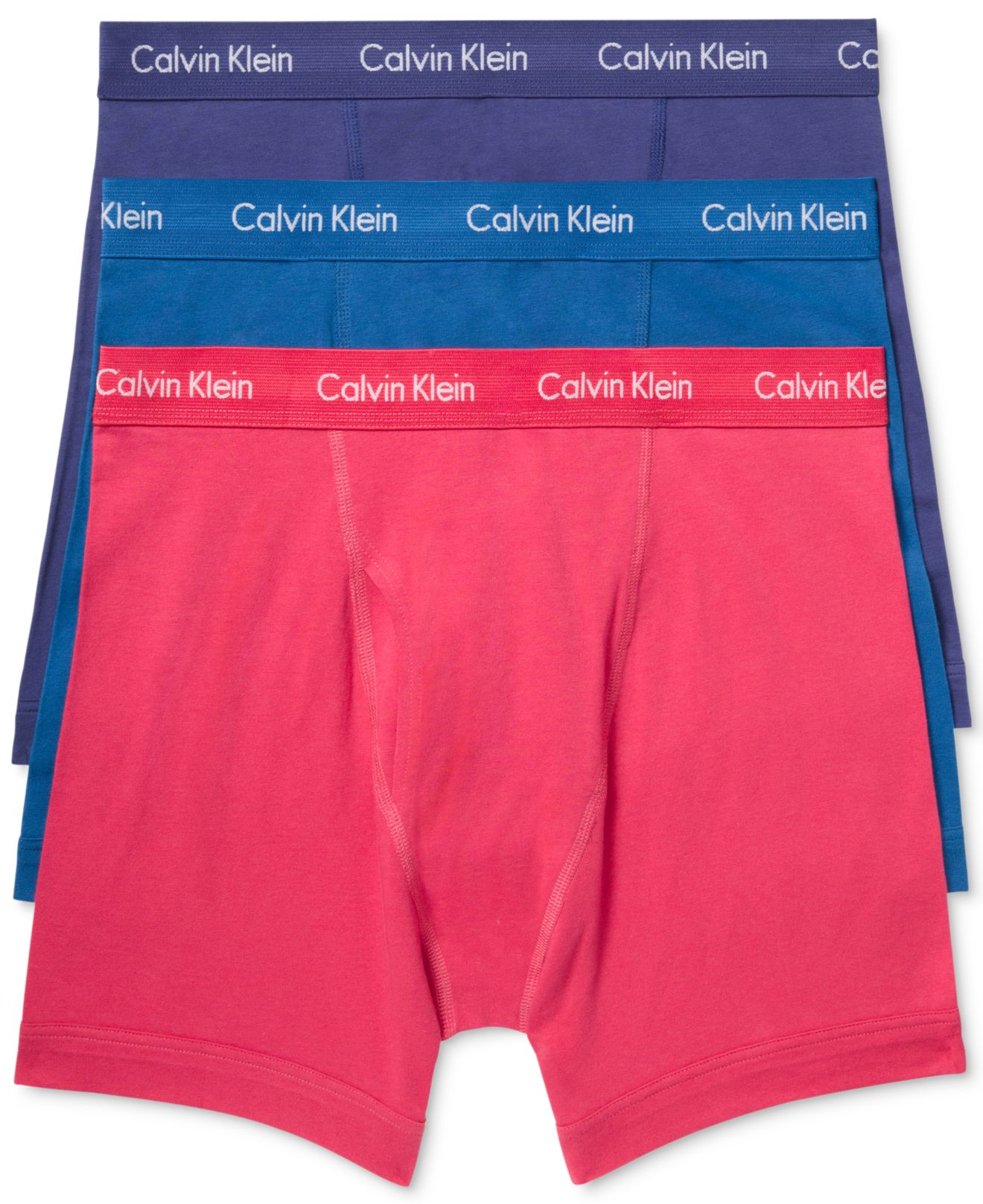 f60e62010f5 Lyst - Calvin Klein Men s Cotton Stretch Boxer Briefs 3-pack in Blue ...