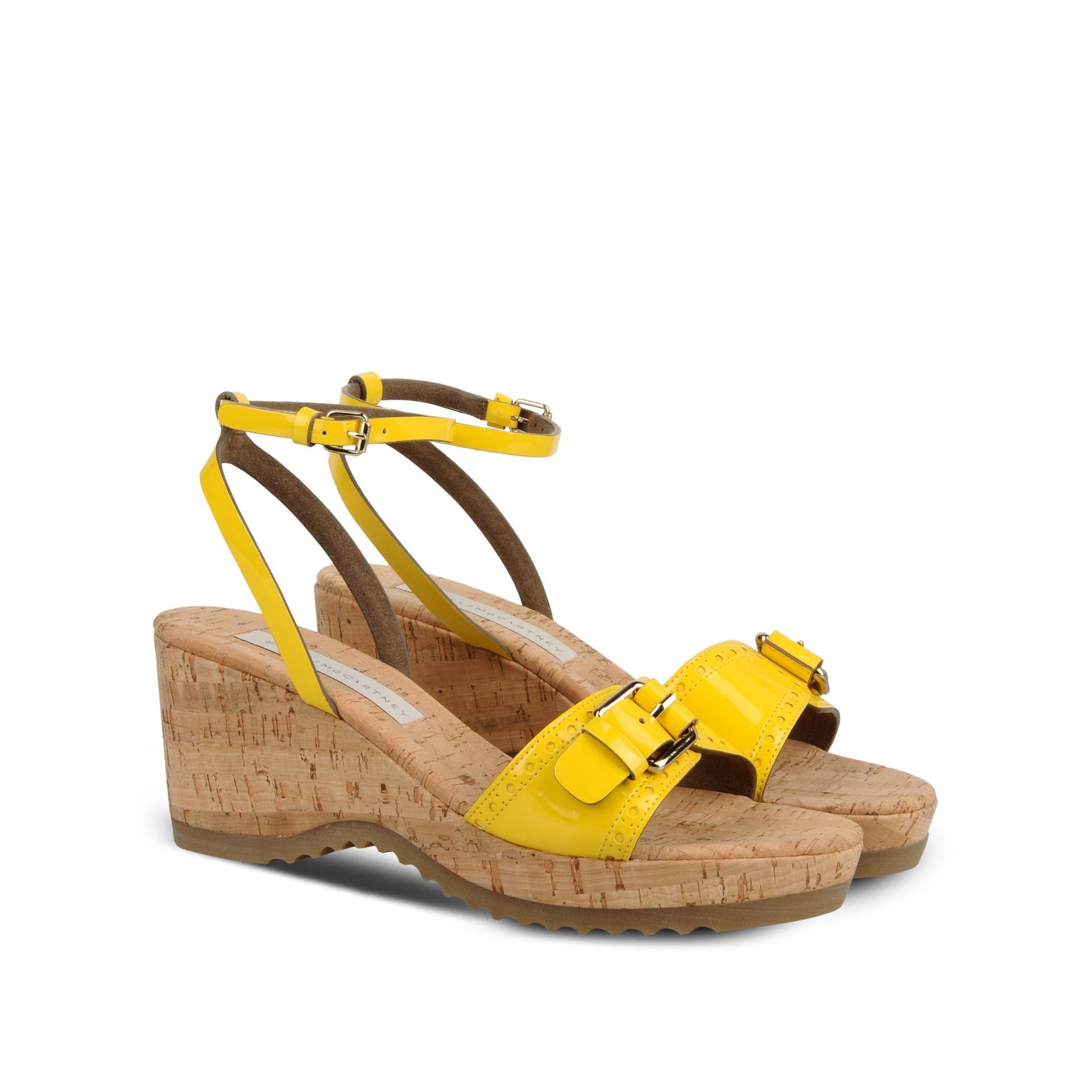 6138b328cf1 Lyst - Stella McCartney Linda Sandals in Yellow