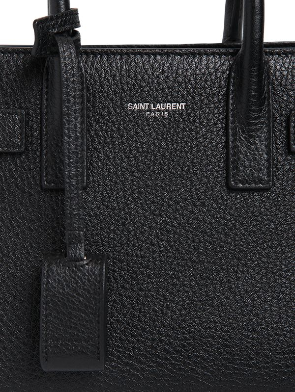 yves saint laurent leather bag - classic small sac de jour bag in black grained leather