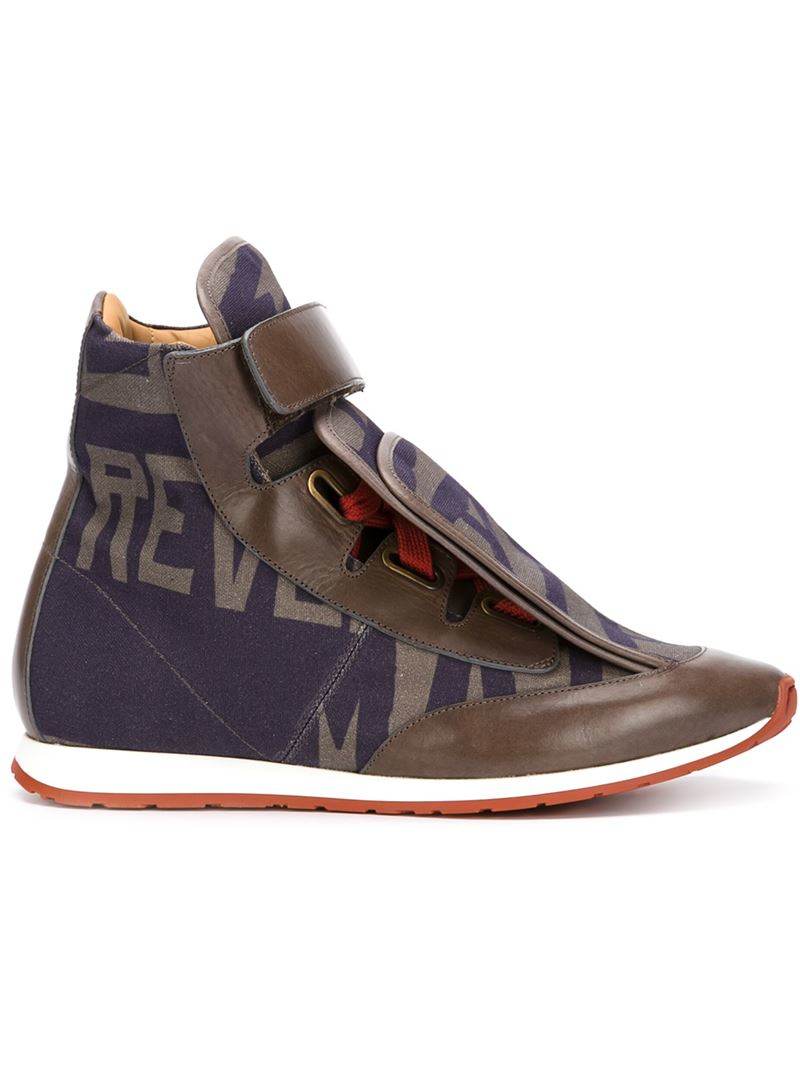 Lyst Vivienne Westwood Three Tongue High Top Sneakers In