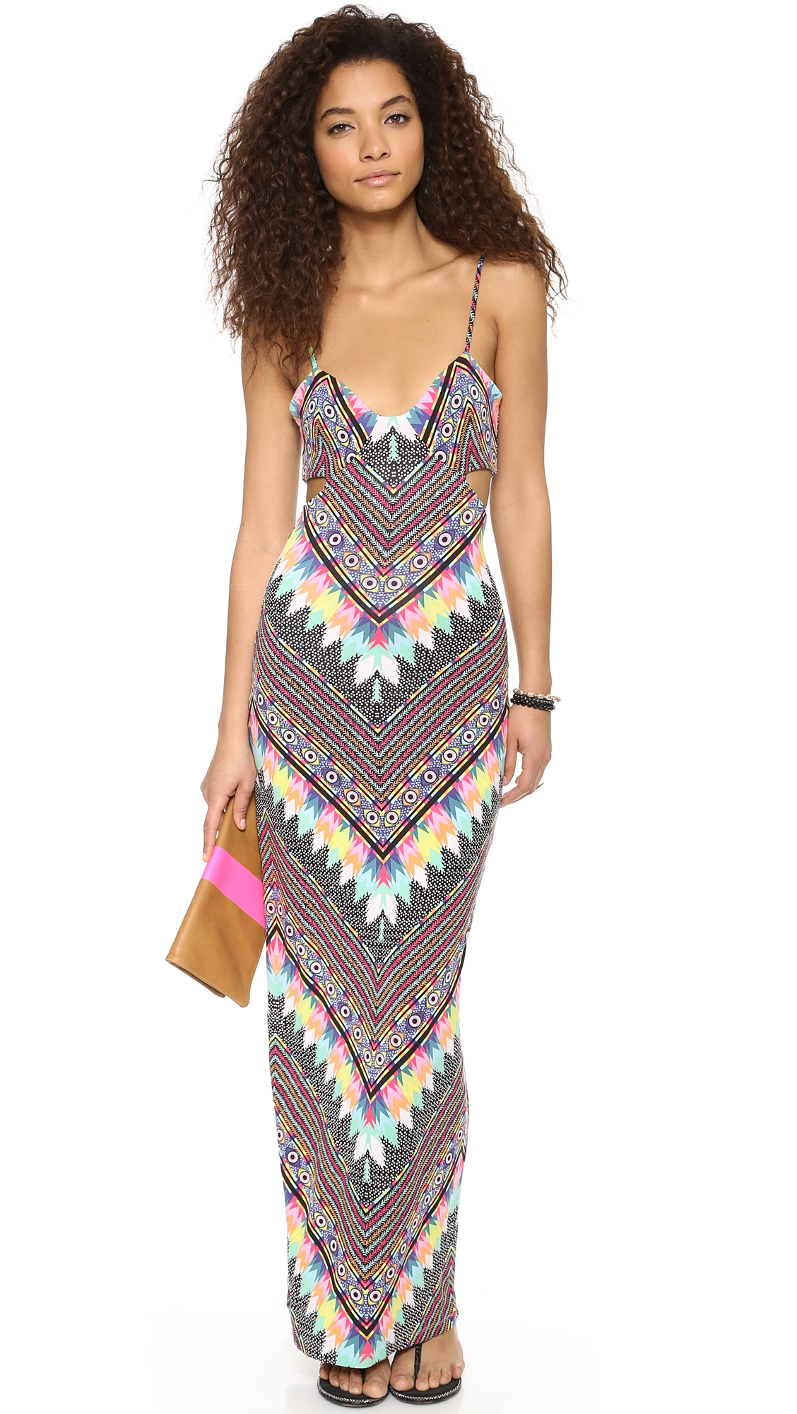 Mara Hoffman Divine Cut Out Maxi Dress In Multicolor