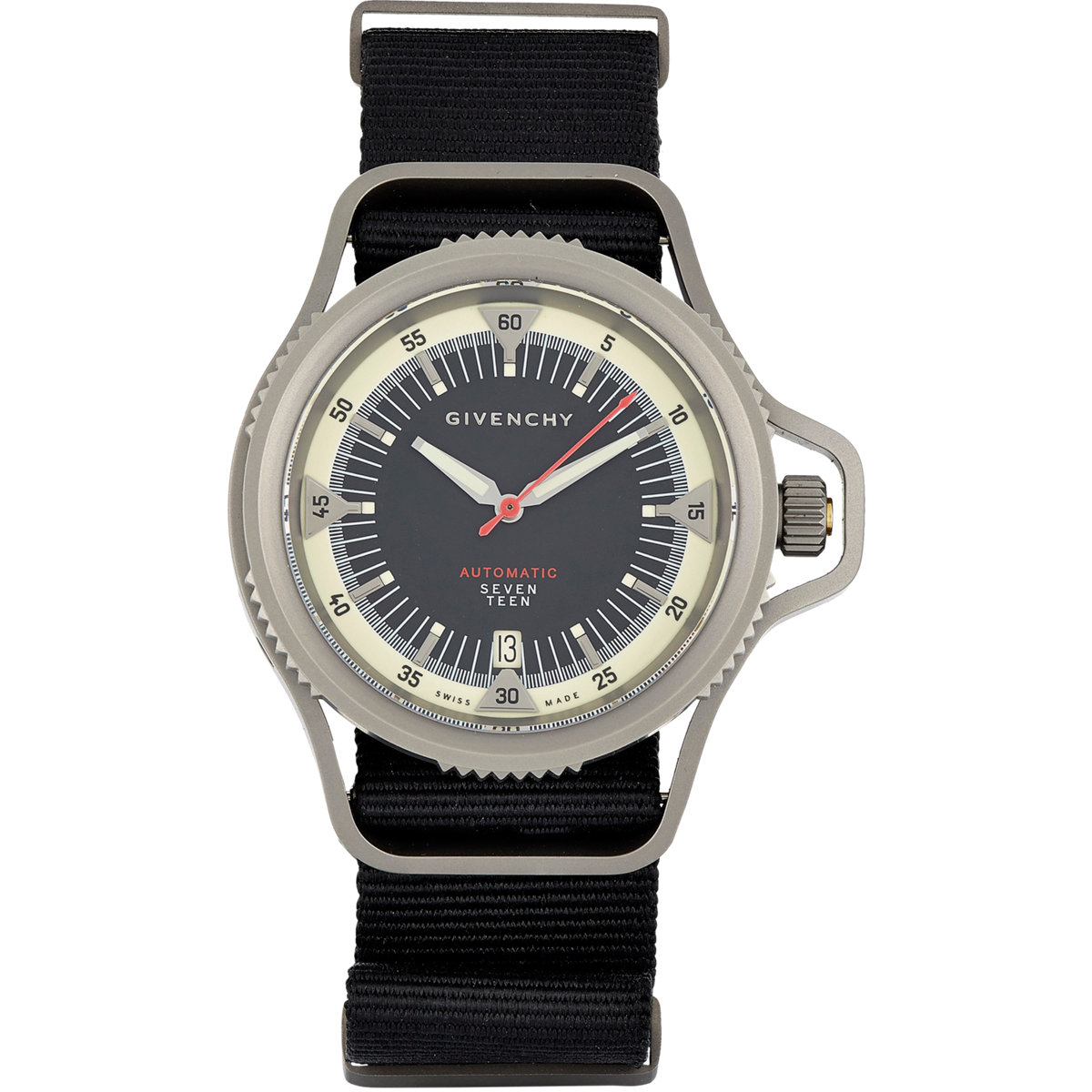 Givenchy seventeen watch in black lyst for Givenchy watches
