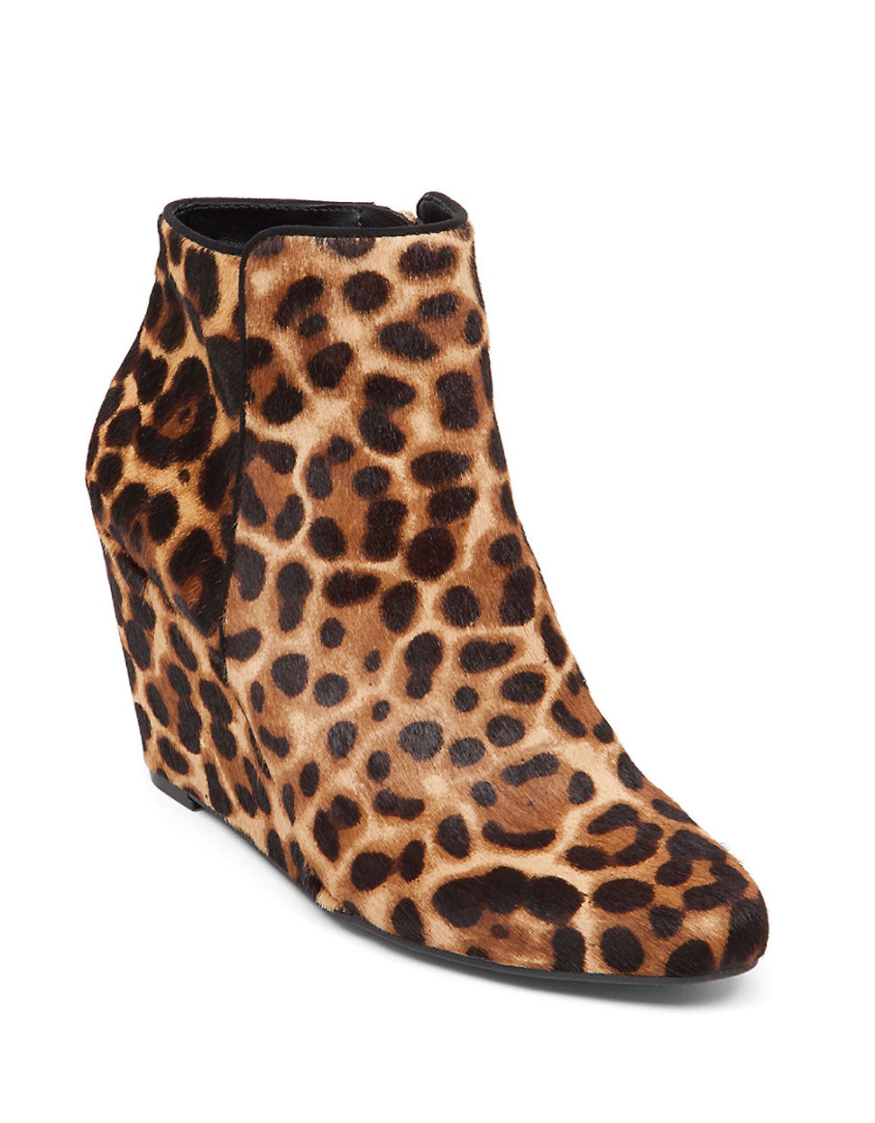 Jessica simpson Remixx Leopard-print Calf Hair Ankle Boots ...