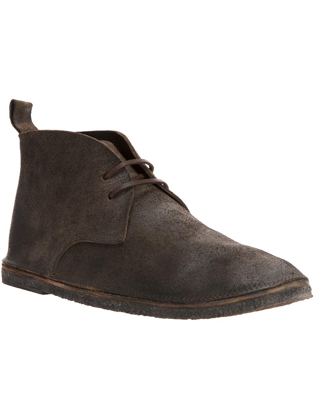 Marsall Desert Boots En Détresse - Brun Bg1qFp