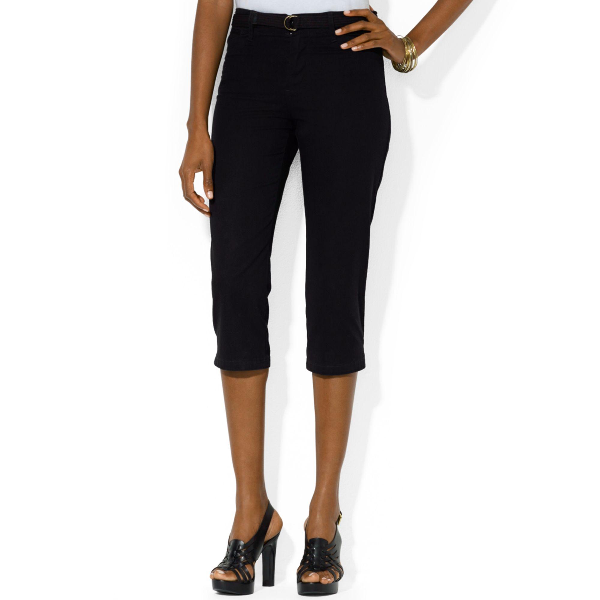 Petite Black Capri Pants   Gpant